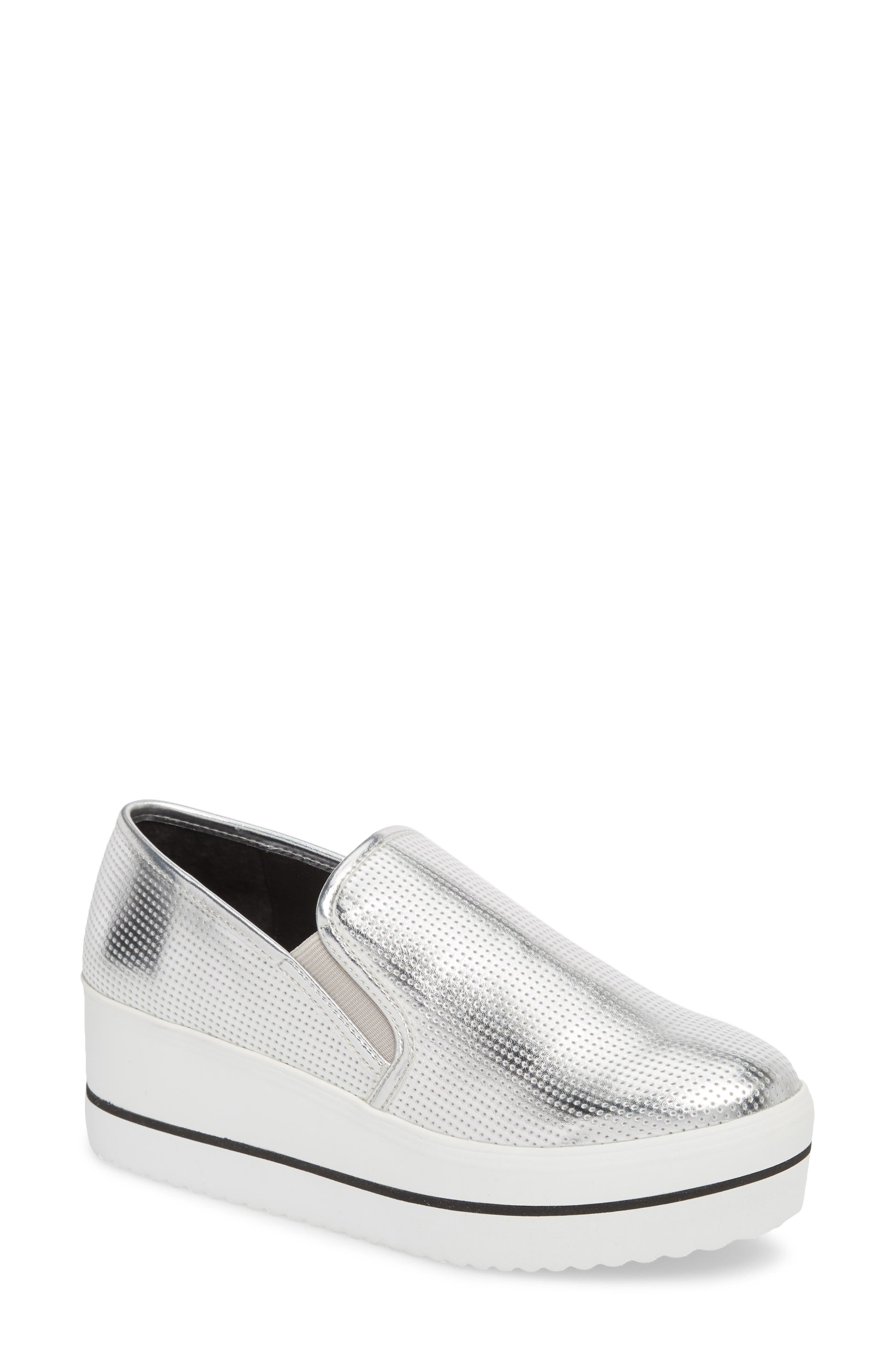 Becca Slip-On Sneaker,                         Main,                         color, SILVER