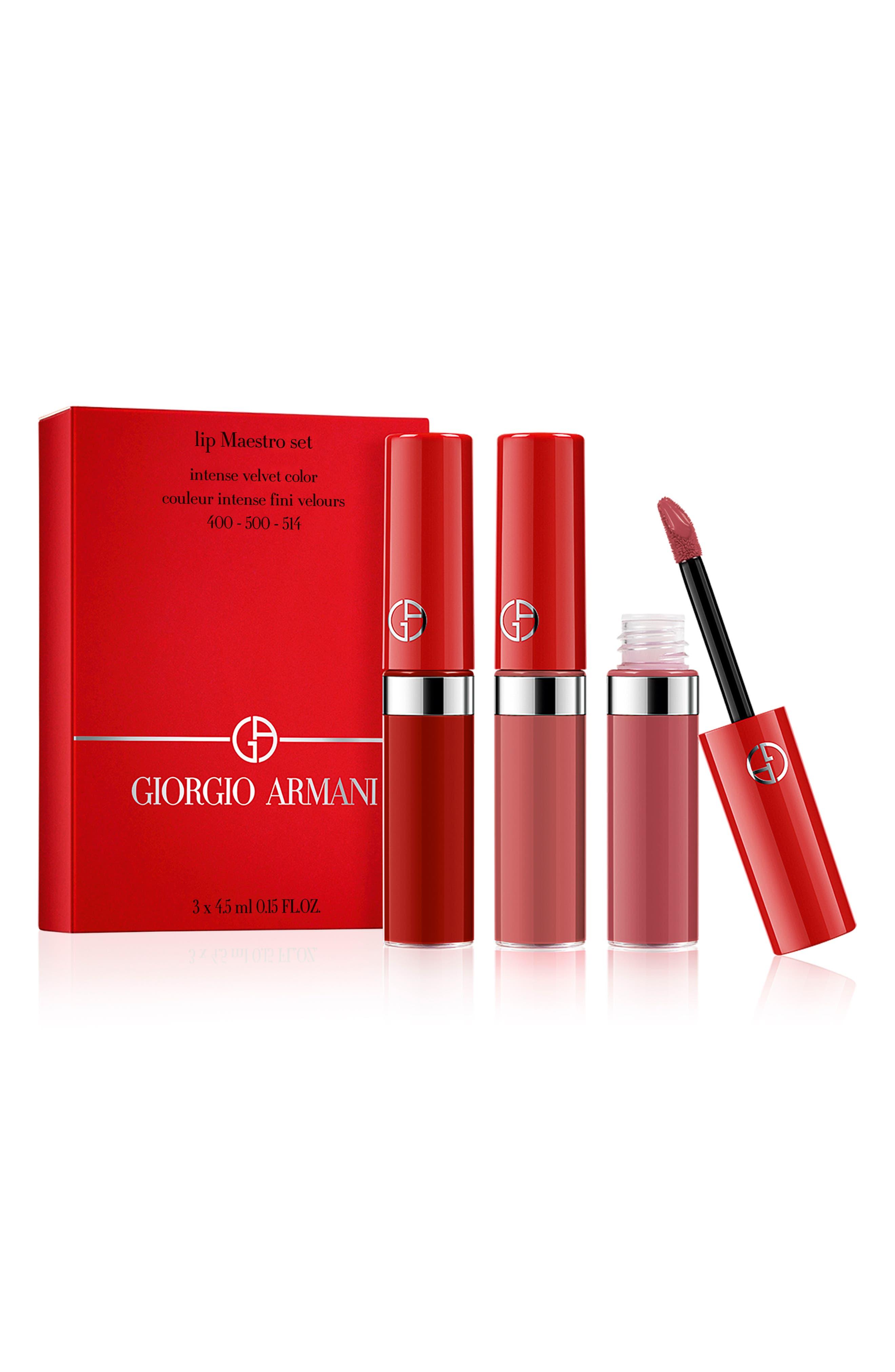 GIORGIO ARMANI,                             Travel Lip Maestro Set,                             Alternate thumbnail 2, color,                             000