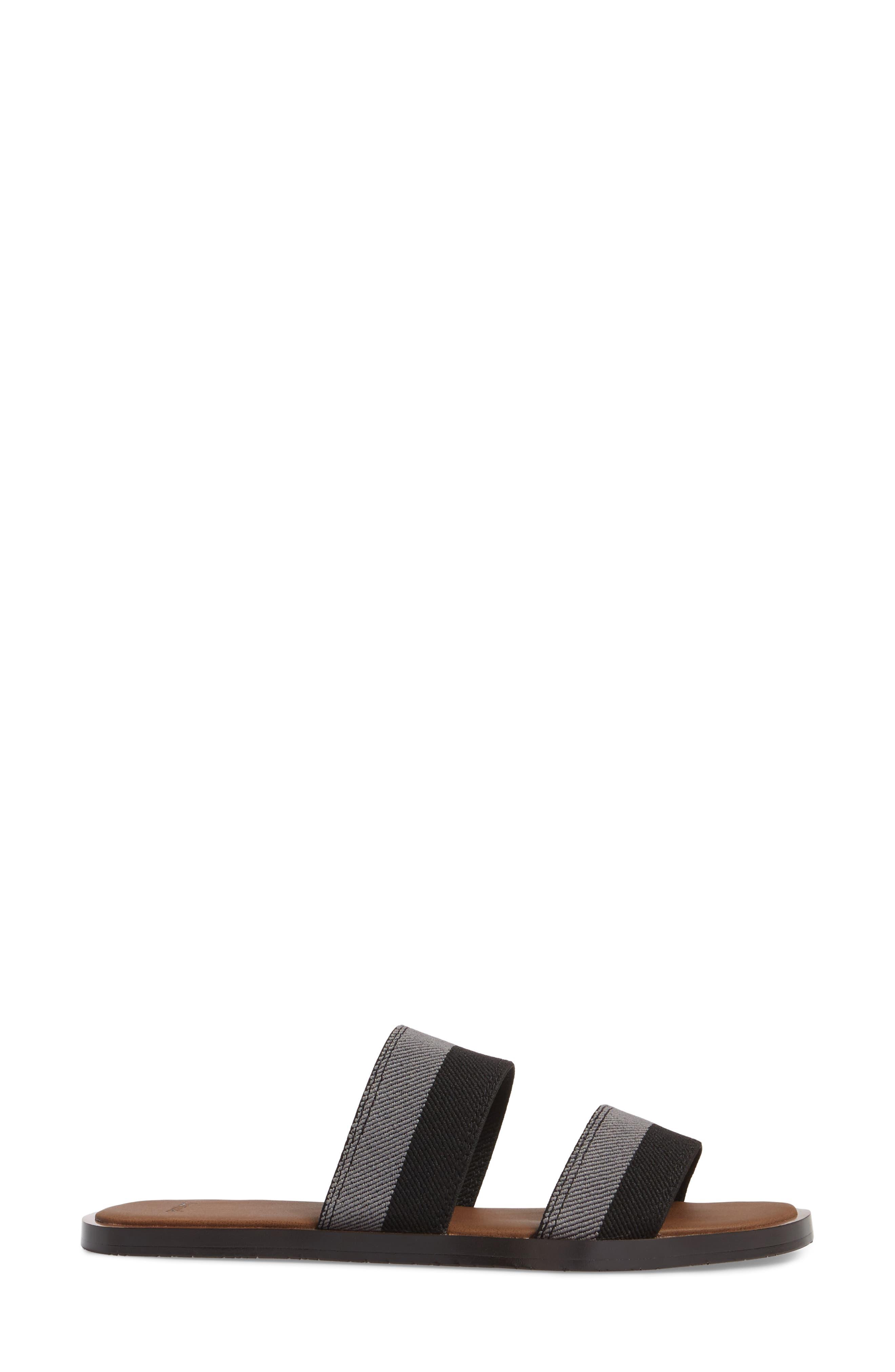 Yoga Gora Gora Slide Sandal,                             Alternate thumbnail 3, color,                             BLACK/ CHARCOAL