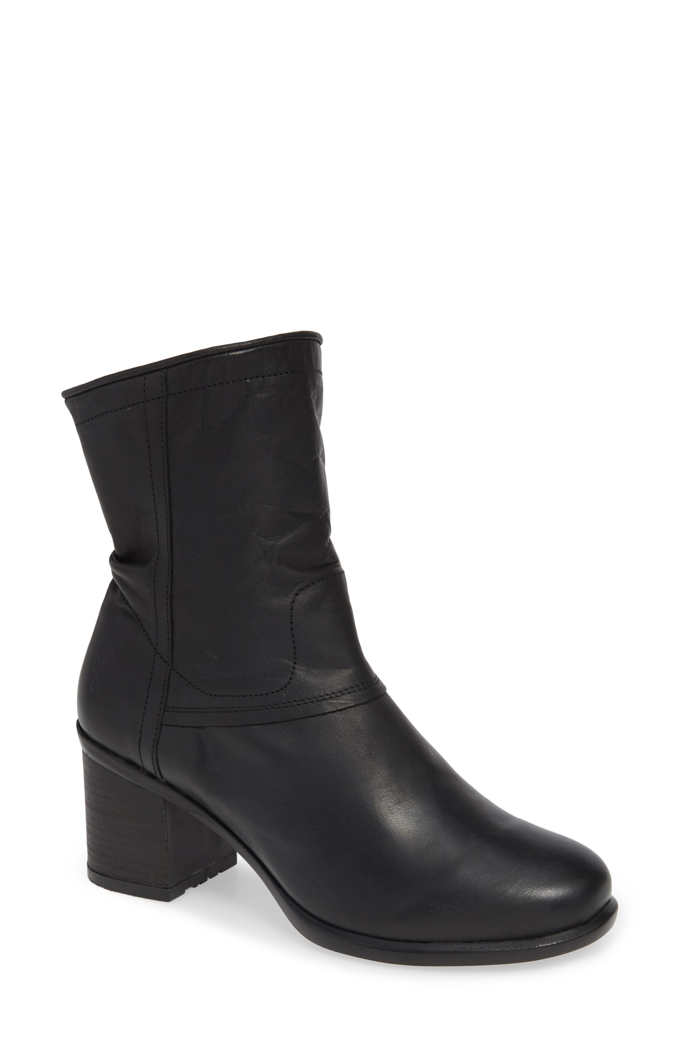 Ital Slightly Slouchy Bootie,                             Main thumbnail 1, color,                             BLACK