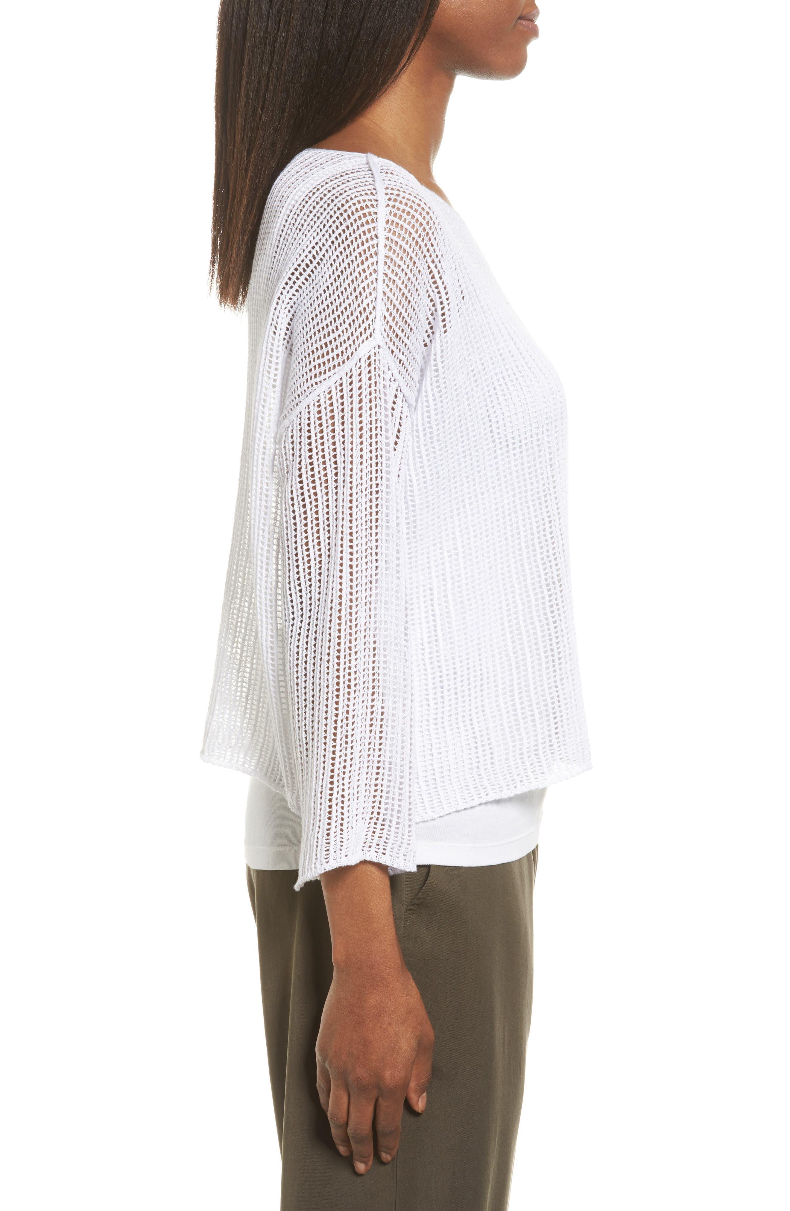 Organic Linen Crop Sweater,                             Alternate thumbnail 12, color,