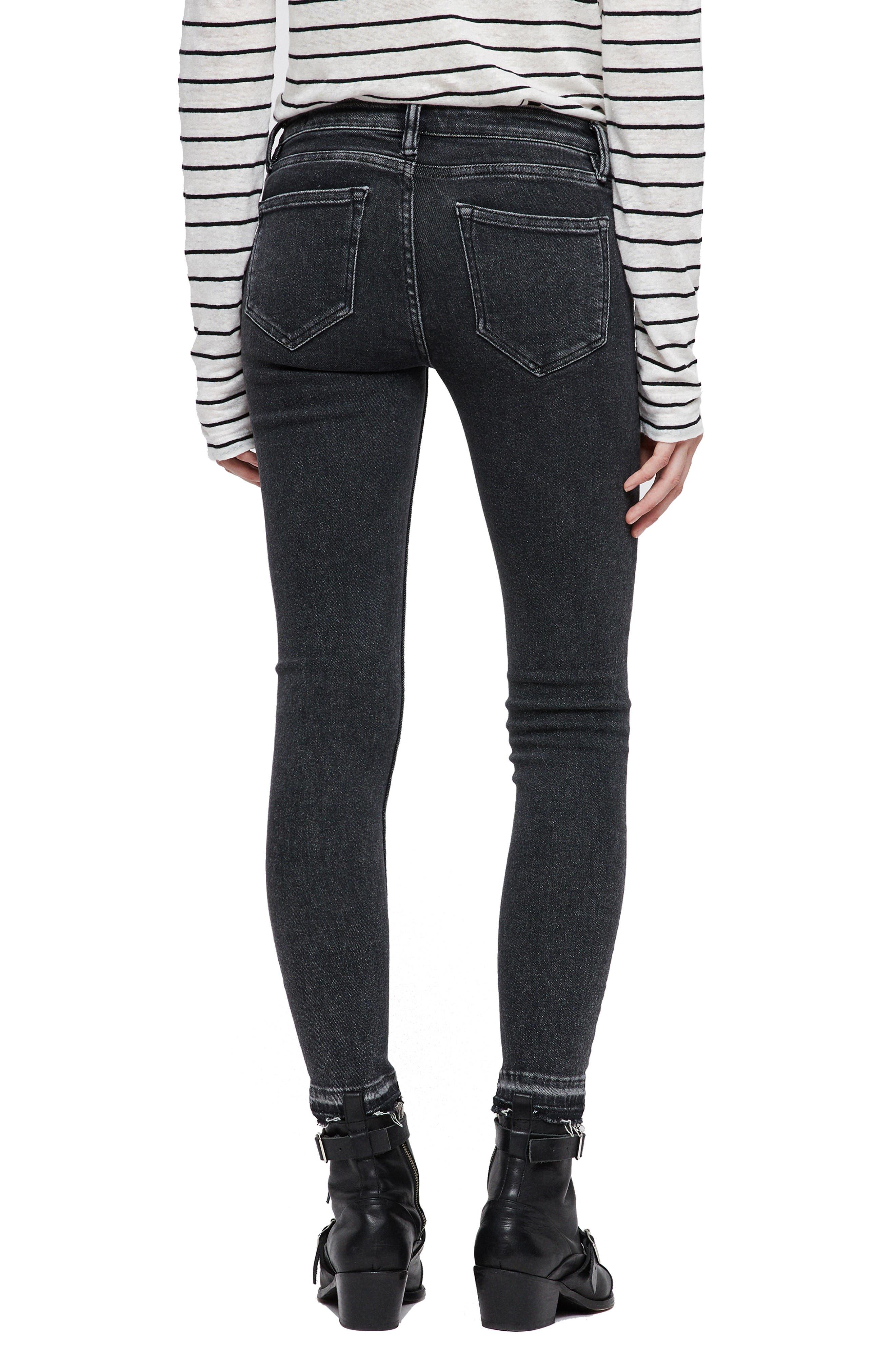 Mast Ankle Skinny Jeans,                             Alternate thumbnail 2, color,                             WASHED BLACK