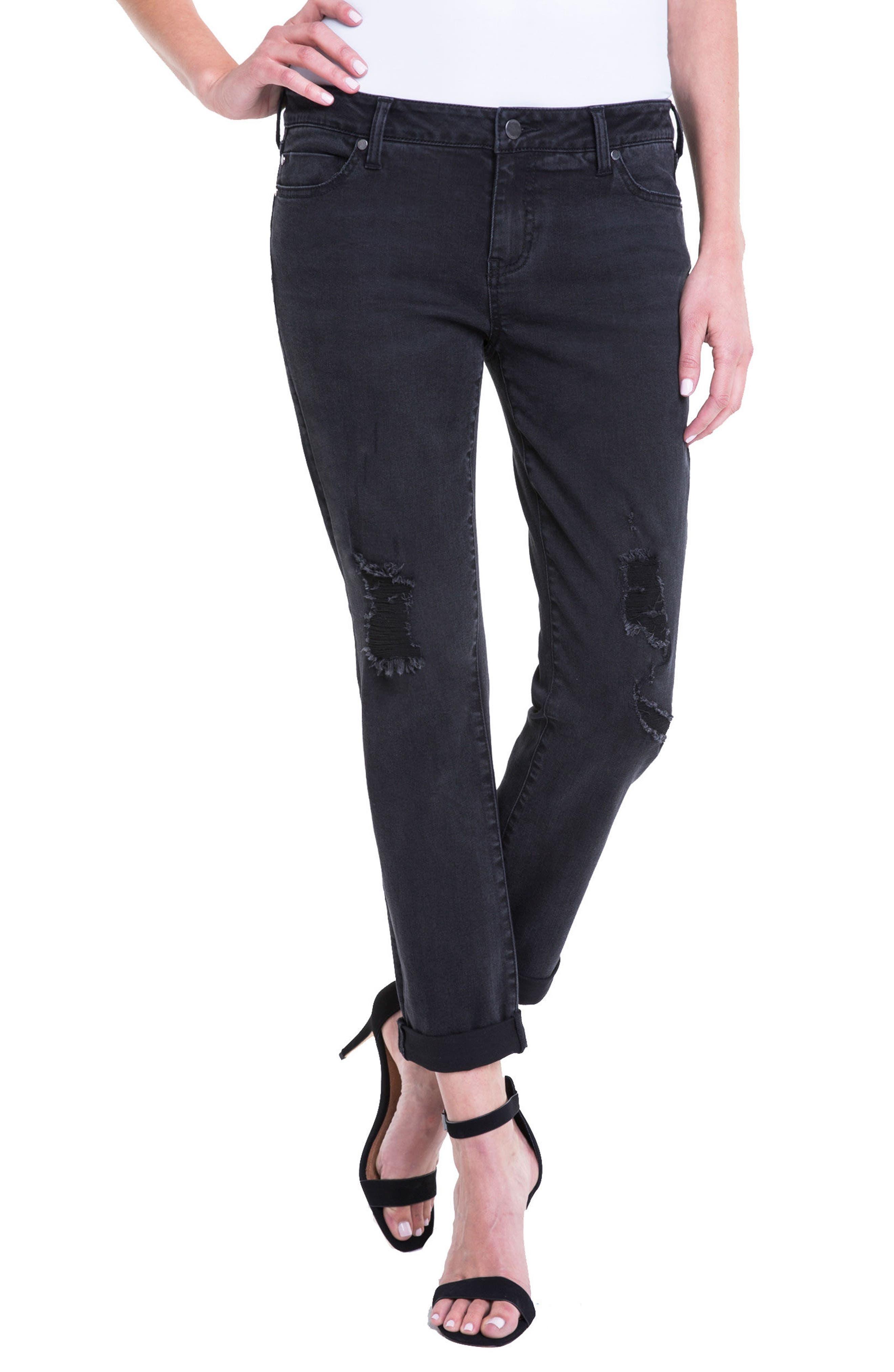 Peyton Slim Stretch Crop Boyfriend Jeans,                         Main,                         color, 024