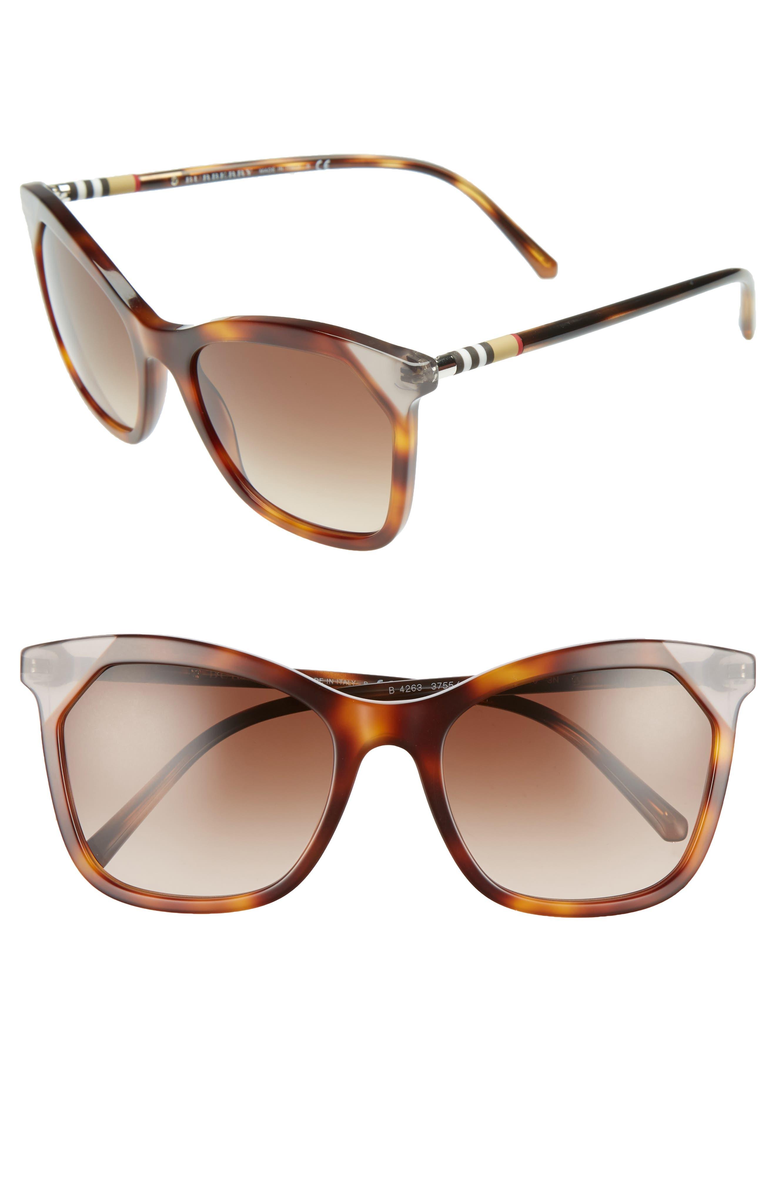 Heritage 54mm Square Sunglasses,                             Main thumbnail 3, color,