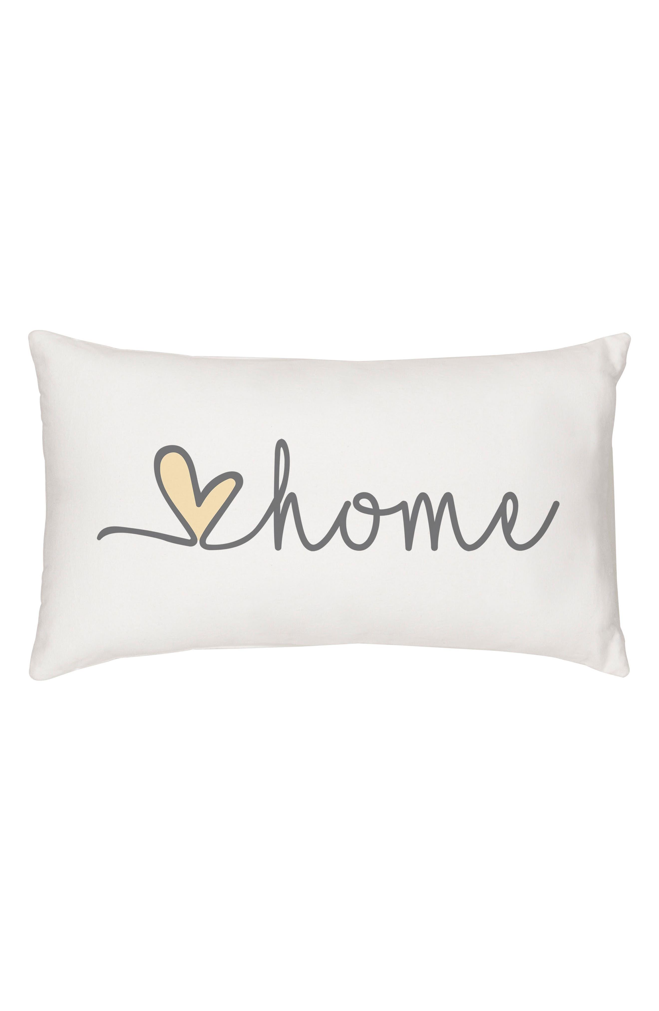 Love Home Lumbar Accent Pillow,                             Main thumbnail 1, color,                             GREY