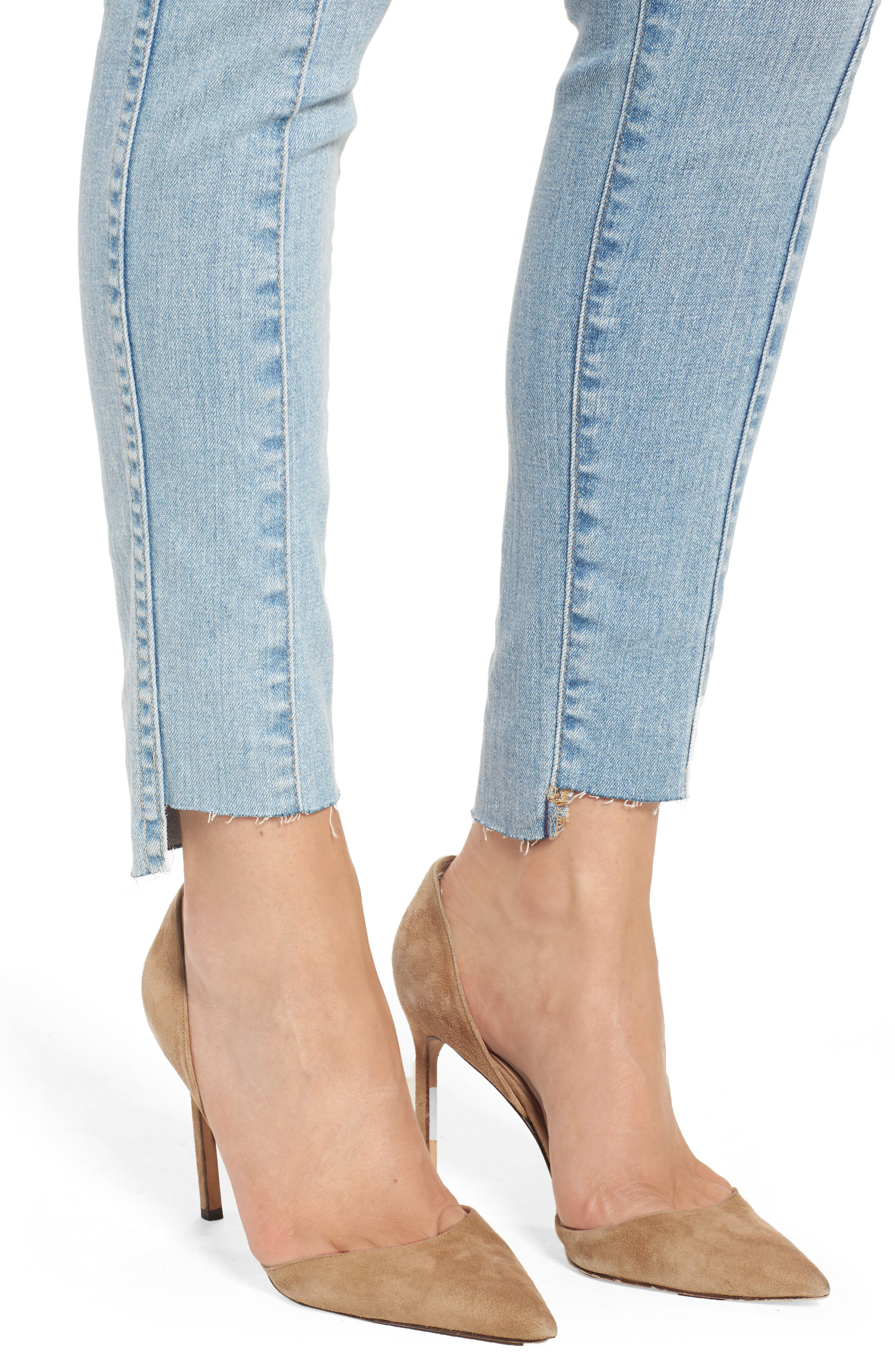 The Farrah High Waist Ankle Skinny Jeans,                             Alternate thumbnail 4, color,
