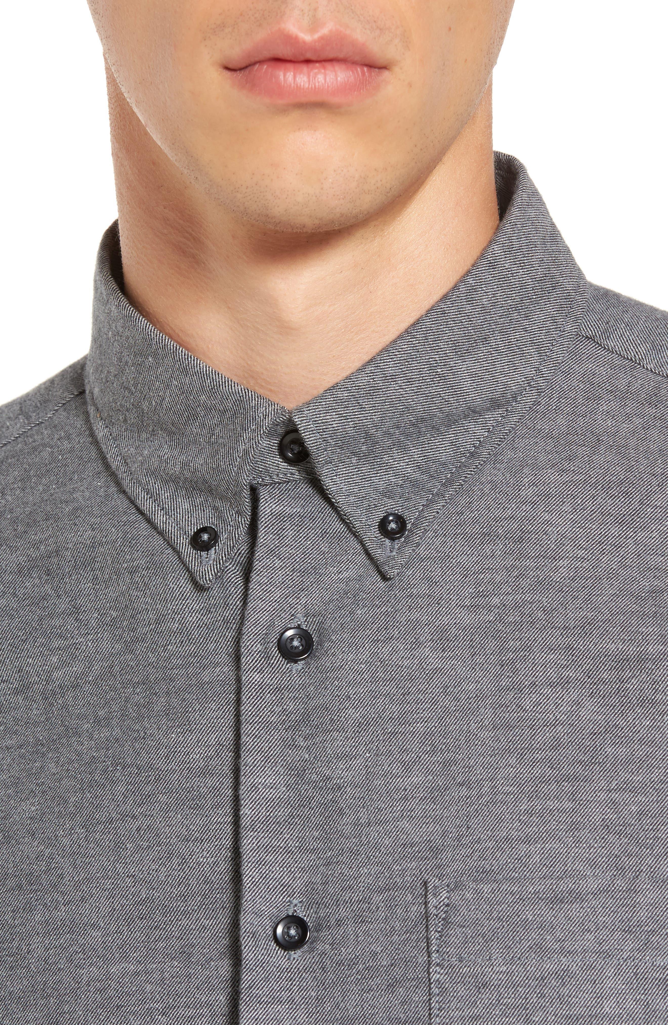 Twill Woven Shirt,                             Alternate thumbnail 4, color,                             030