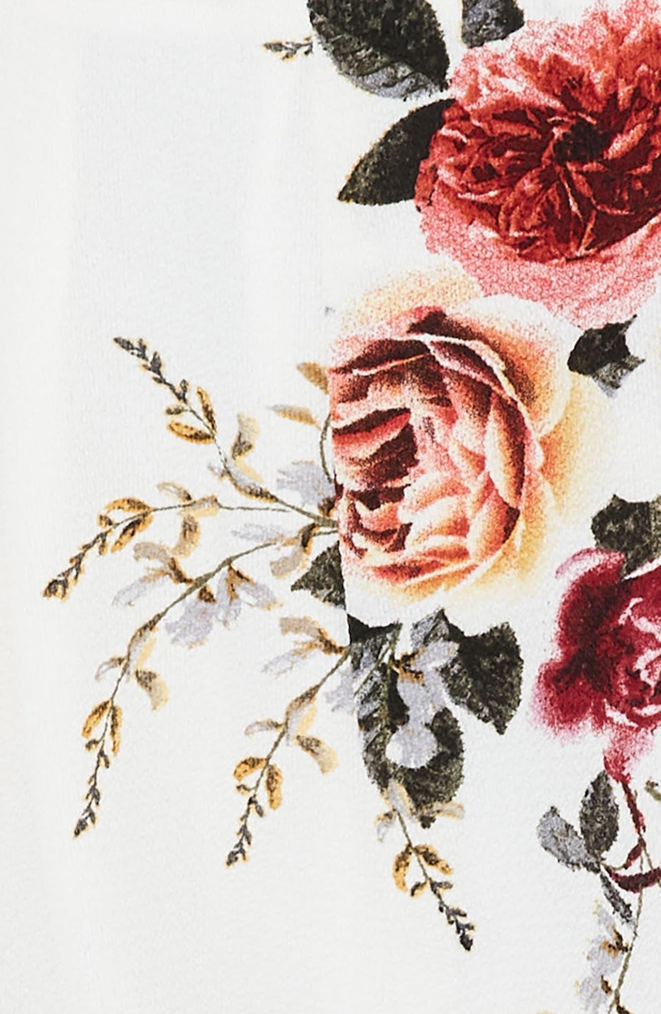 Floral Print High Waist Shorts,                             Alternate thumbnail 3, color,                             903