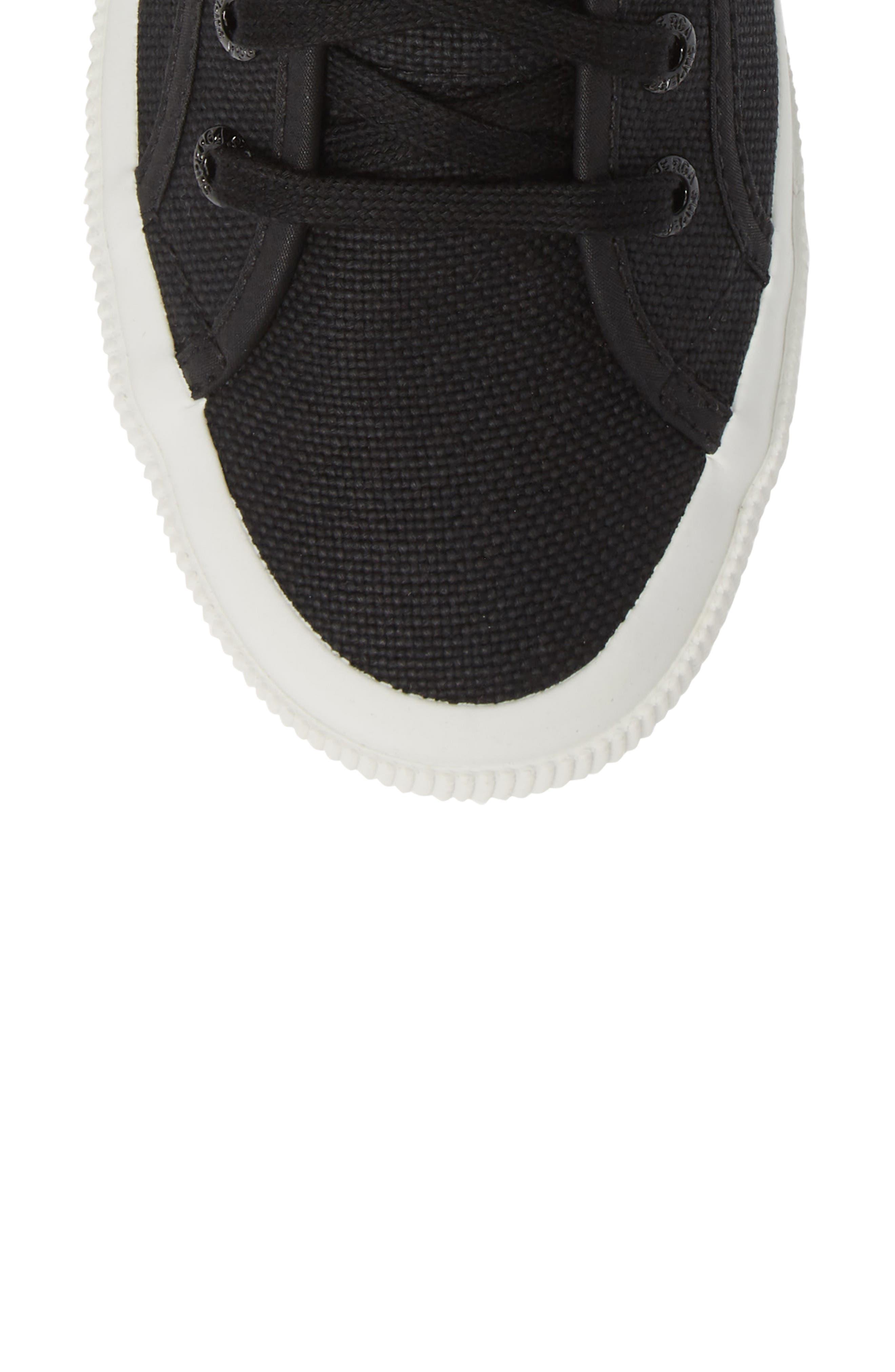 2795 High Top Sneaker,                             Alternate thumbnail 5, color,                             BLACK/ WHITE