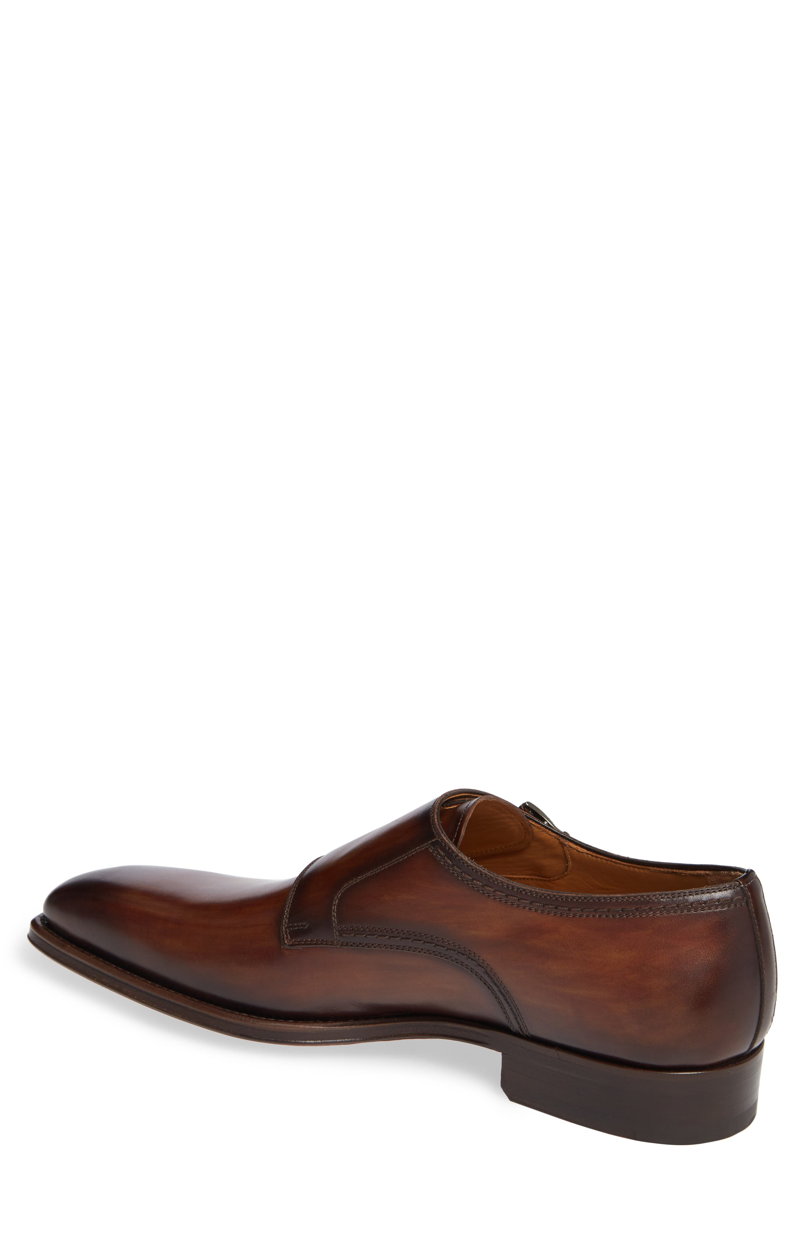Landon Double Strap Monk Shoe,                             Alternate thumbnail 2, color,                             TOBACCO LEATHER