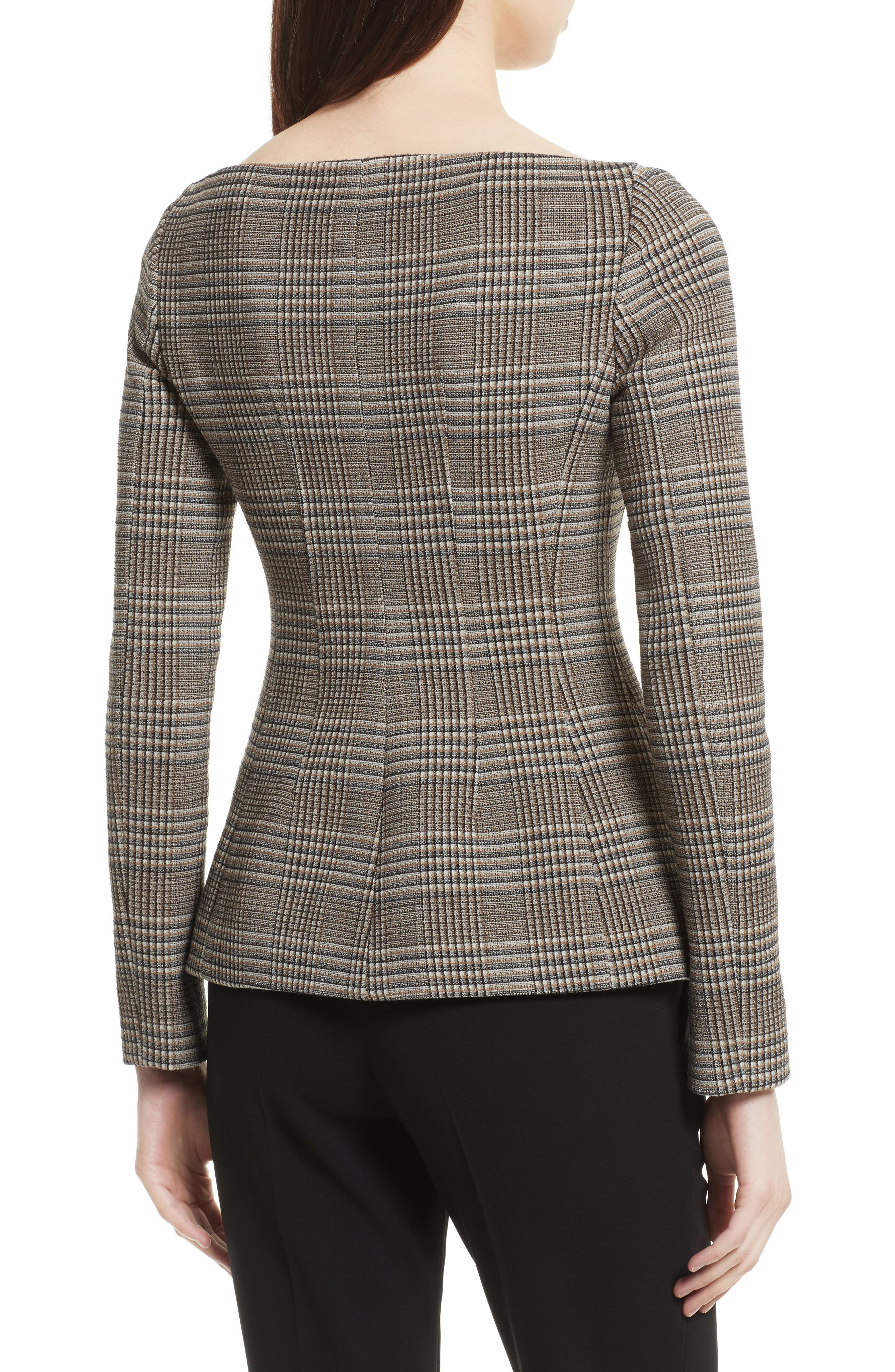 Hadfield Off the Shoulder Stretch Wool Jacket,                             Alternate thumbnail 2, color,                             204