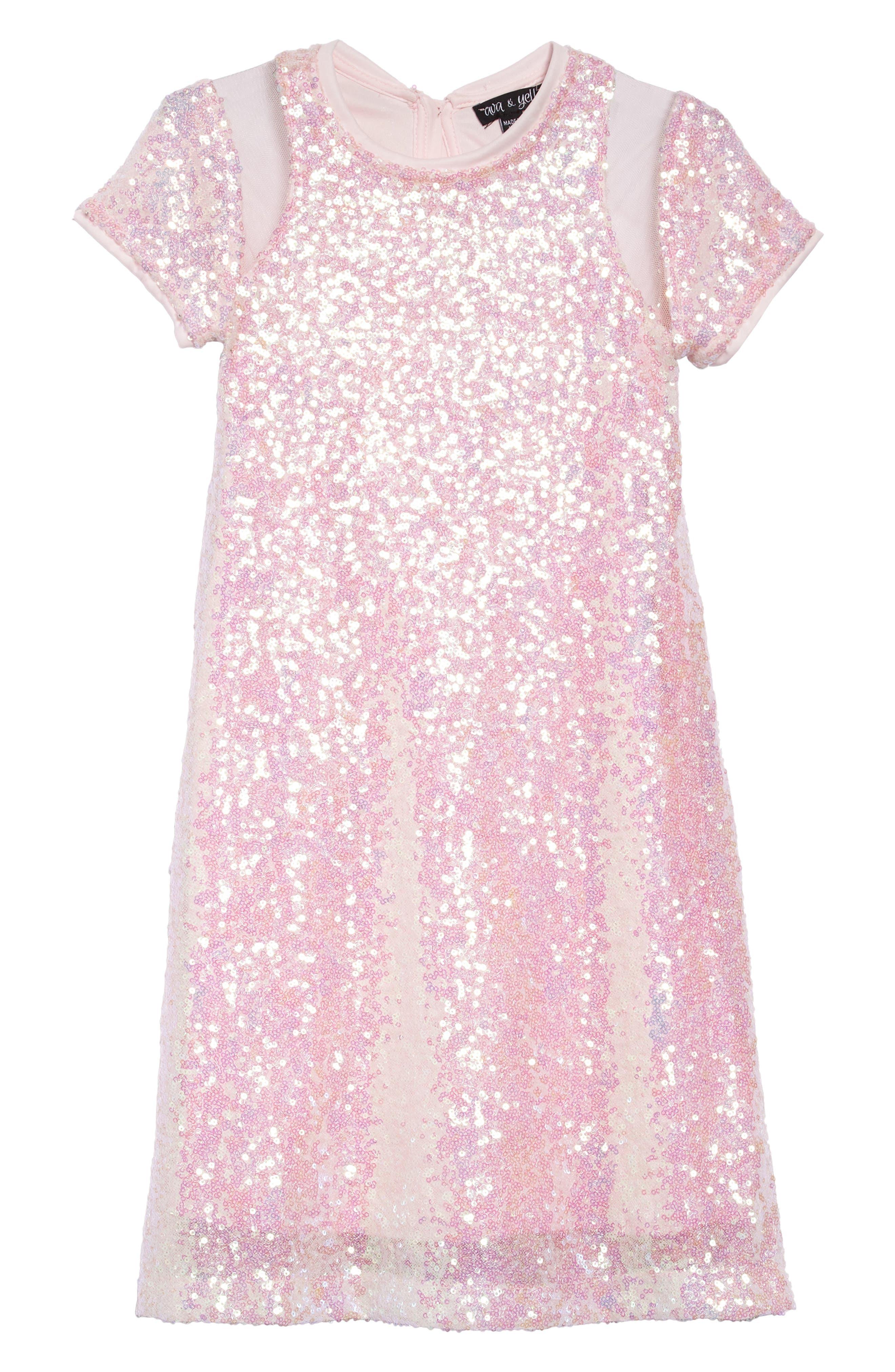 Sequin Sheath Dress,                             Main thumbnail 1, color,                             650