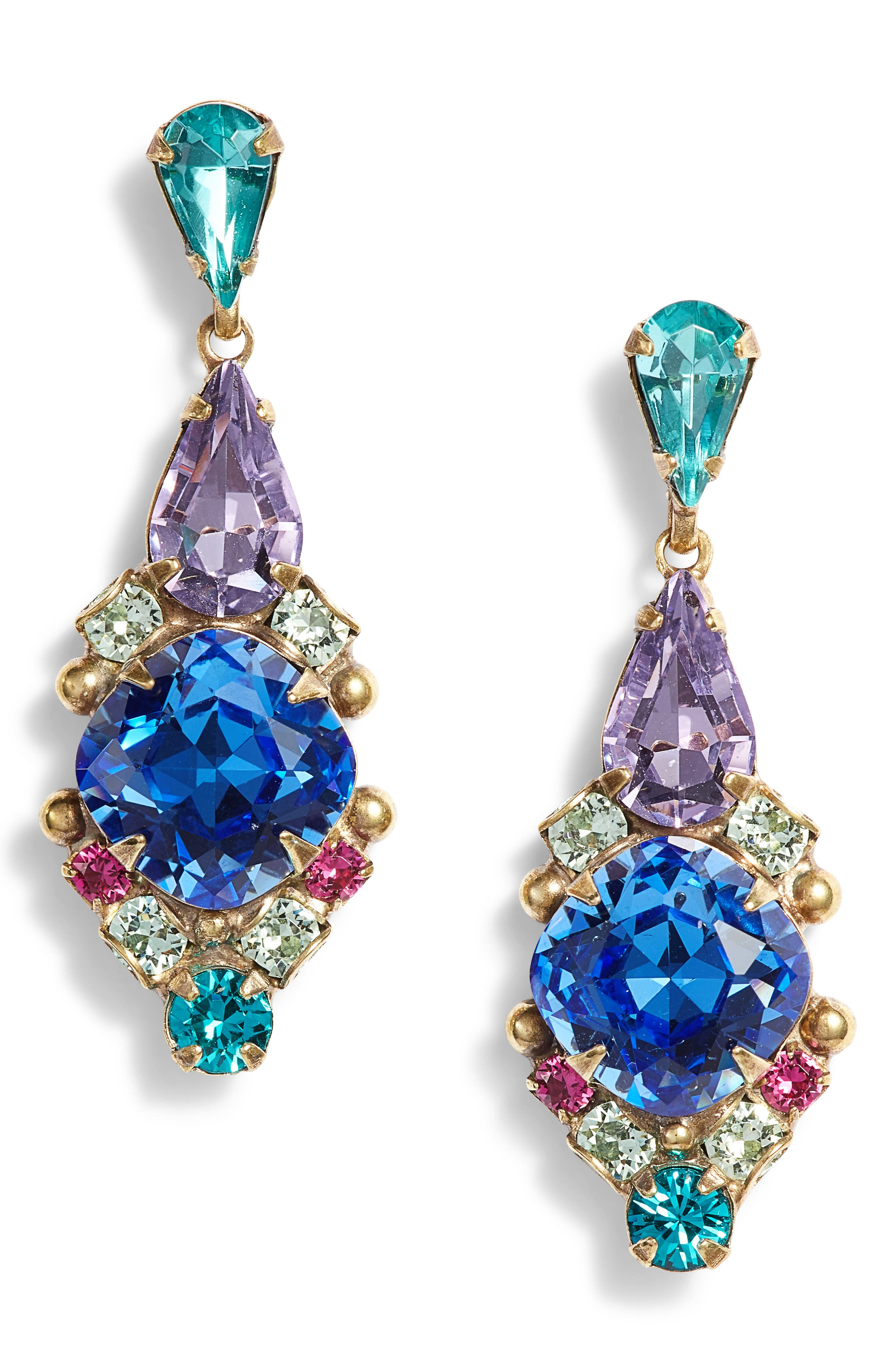 Alyssum Earrings,                         Main,                         color, BLUE MULTI