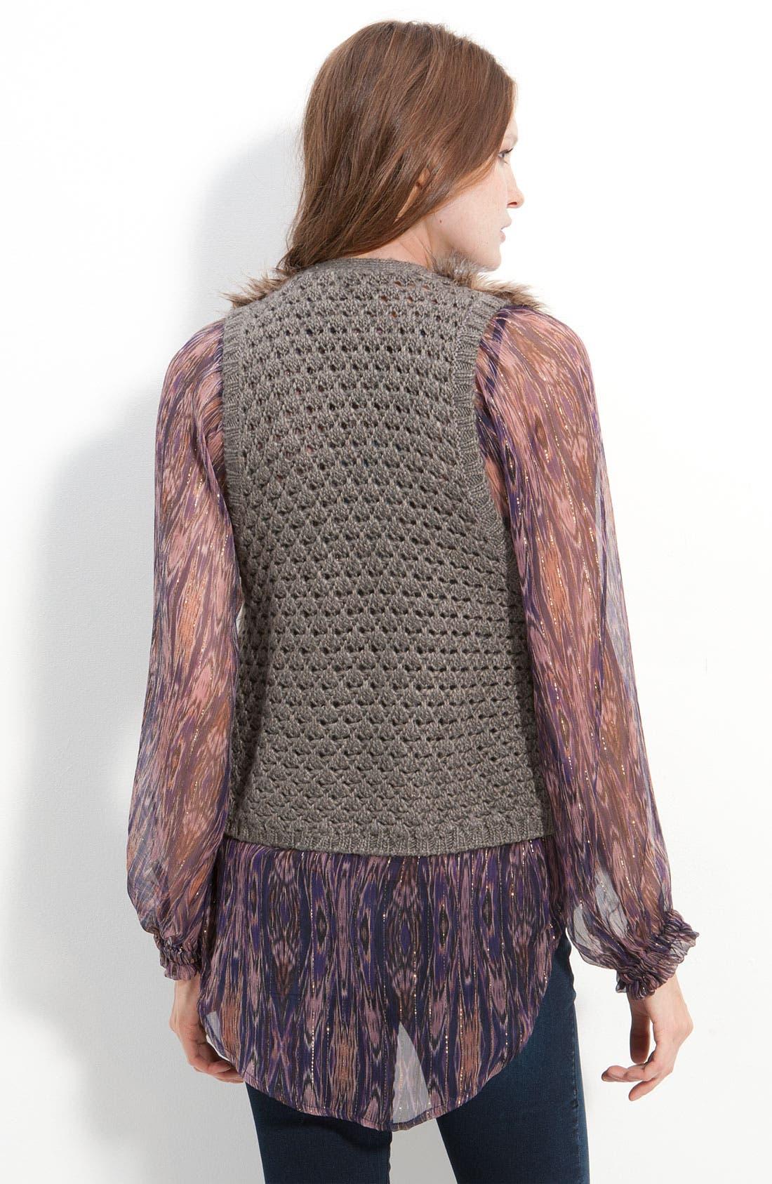 'Arabella' Faux Fur Vest,                             Alternate thumbnail 2, color,                             200