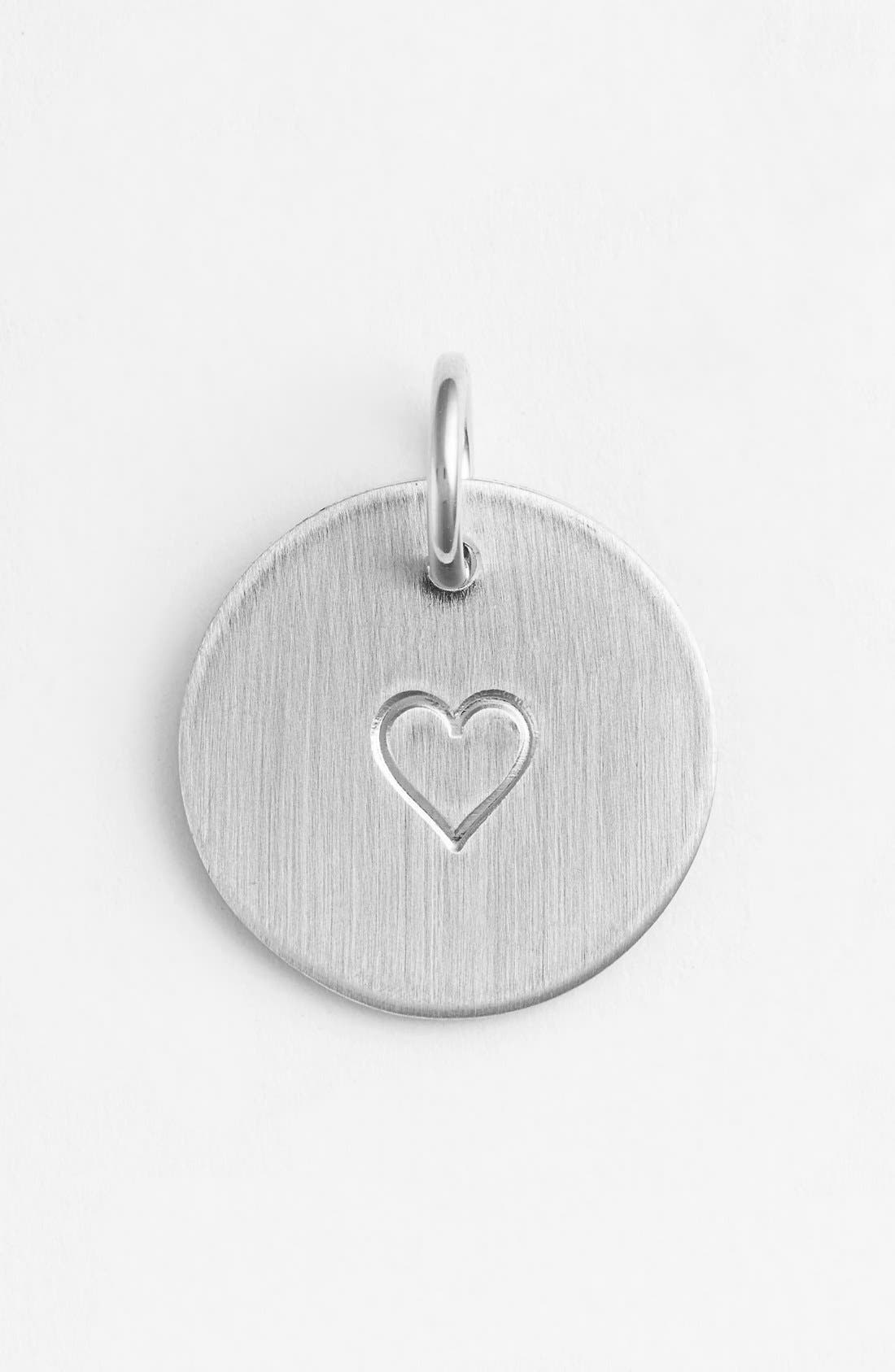 Heart Stamp Charm,                             Main thumbnail 1, color,