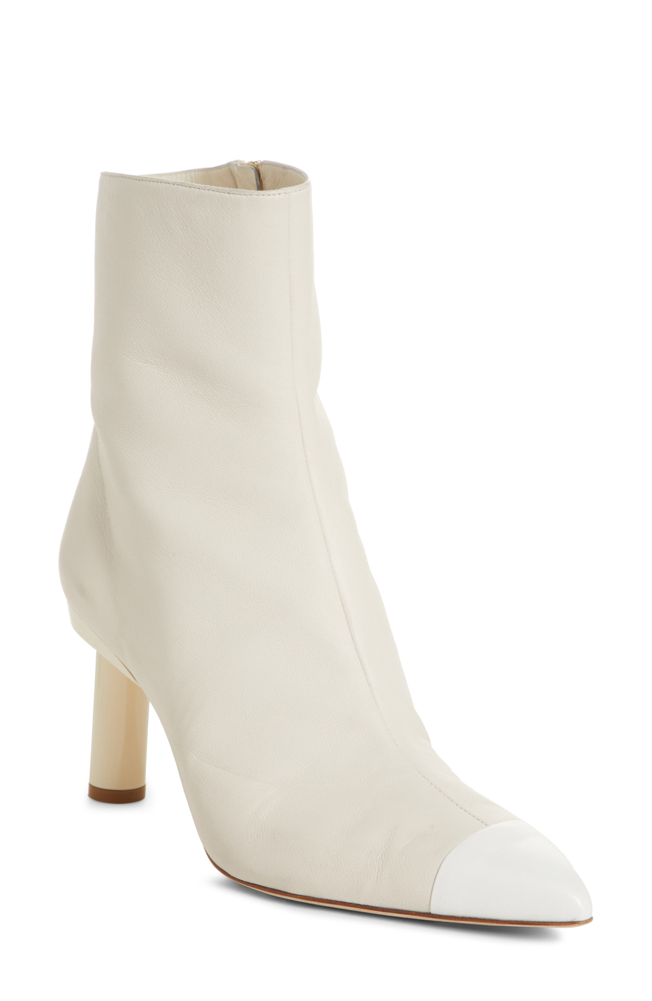 Grant Column Heel Bootie,                             Main thumbnail 1, color,                             IVORY/ BRIGHT WHITE MULTI