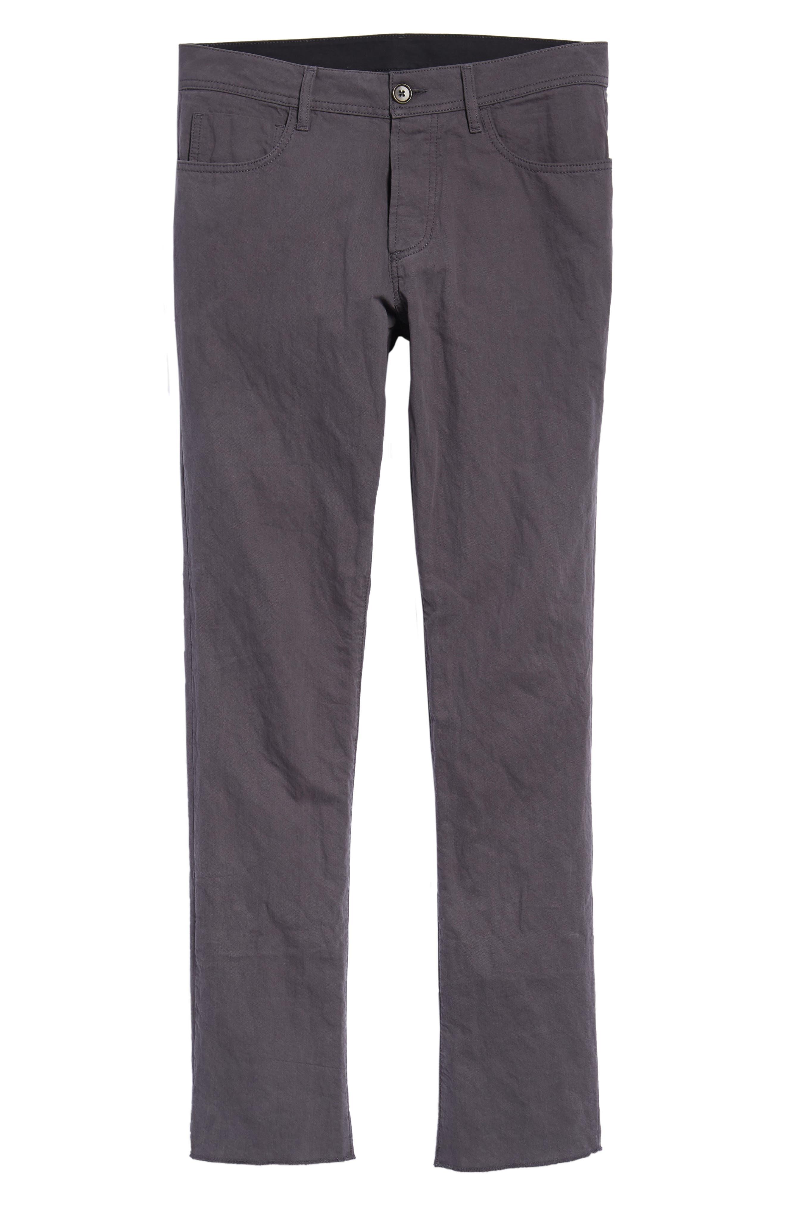 Slim Fit Twill Pants,                             Alternate thumbnail 6, color,                             037