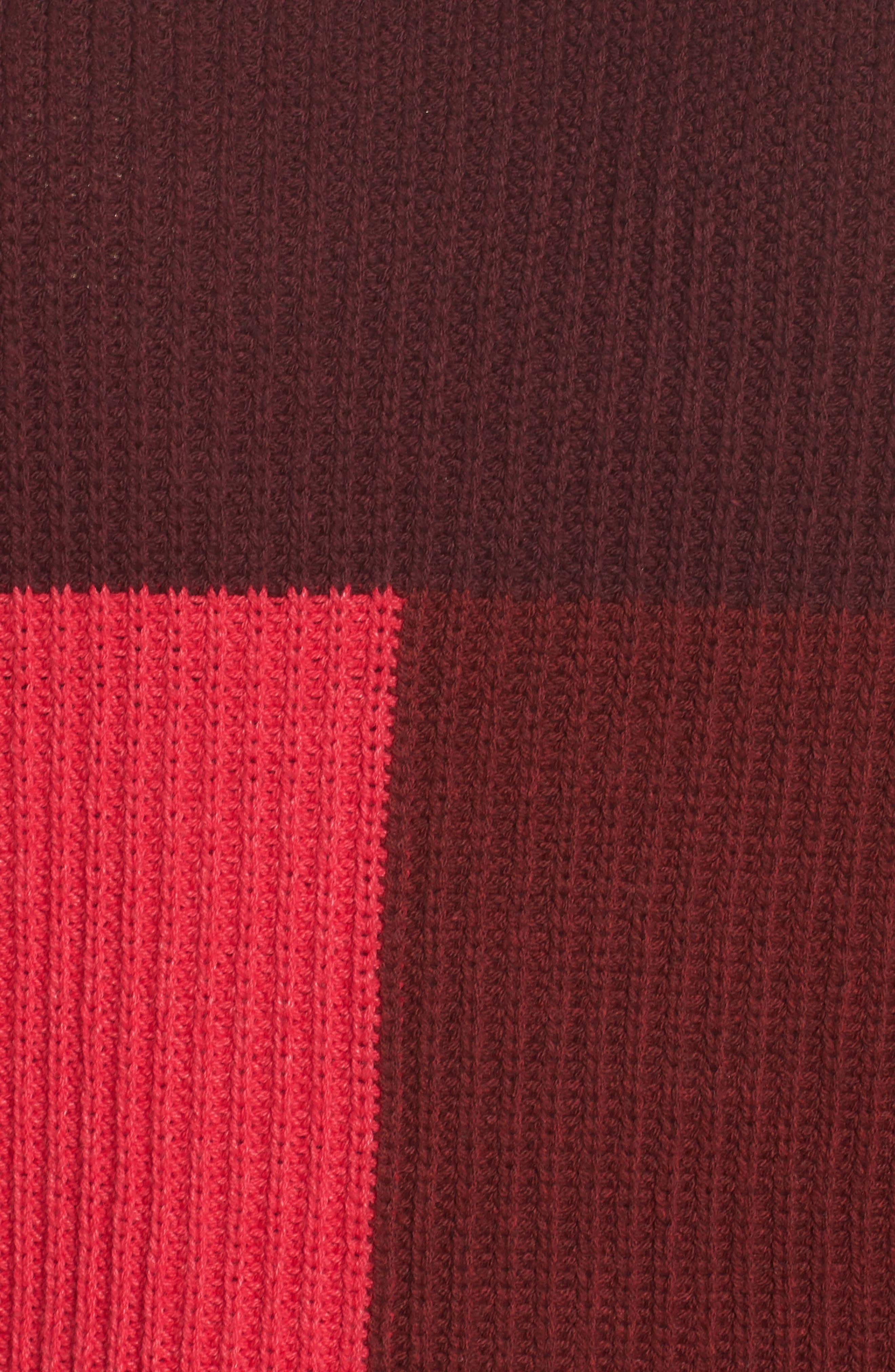 Mock Neck Colorblock Sweater,                             Alternate thumbnail 6, color,                             RED RUMBA COLORBLOCK