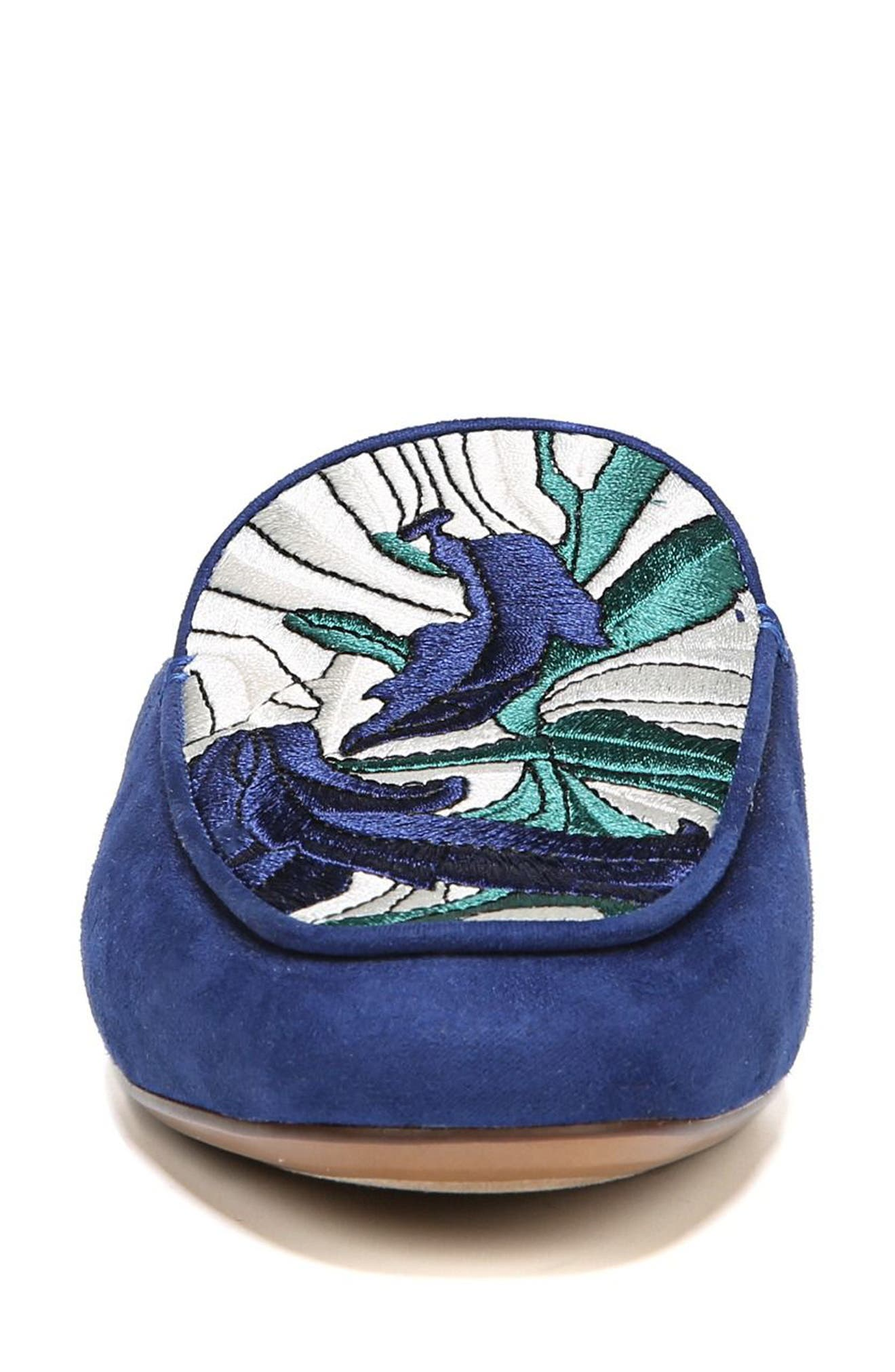 NATURALIZER,                             Eden II Embroidered Mule,                             Alternate thumbnail 4, color,                             SAPPHIRE FABRIC