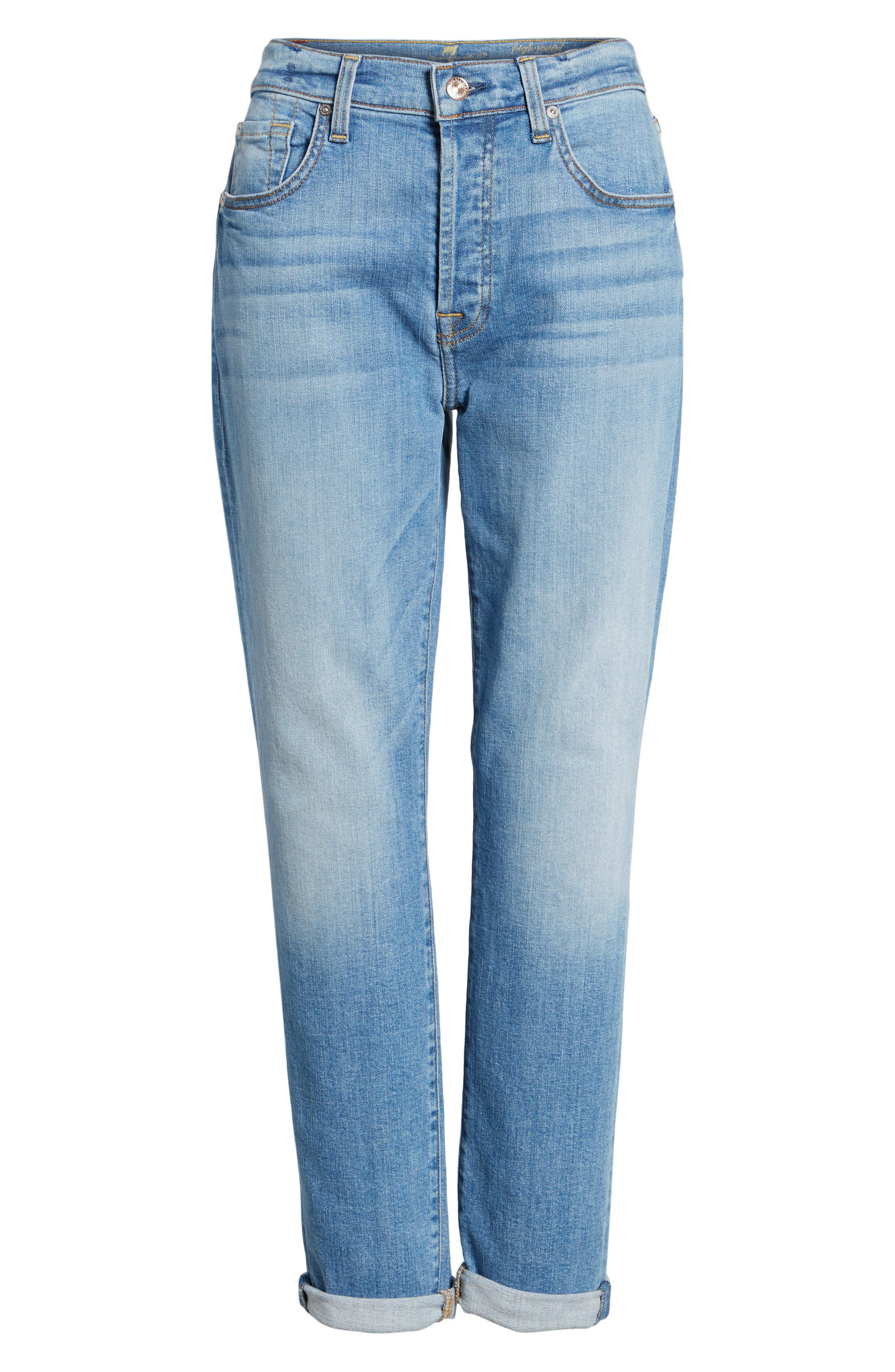 Josefina High Waist Crop Boyfriend Jeans,                             Alternate thumbnail 6, color,                             400