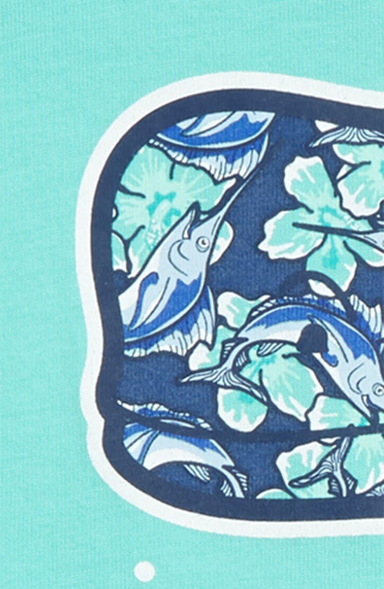 Marlin Flowers Whale Pocket T-Shirt,                             Alternate thumbnail 3, color,                             CAPRI BLUE