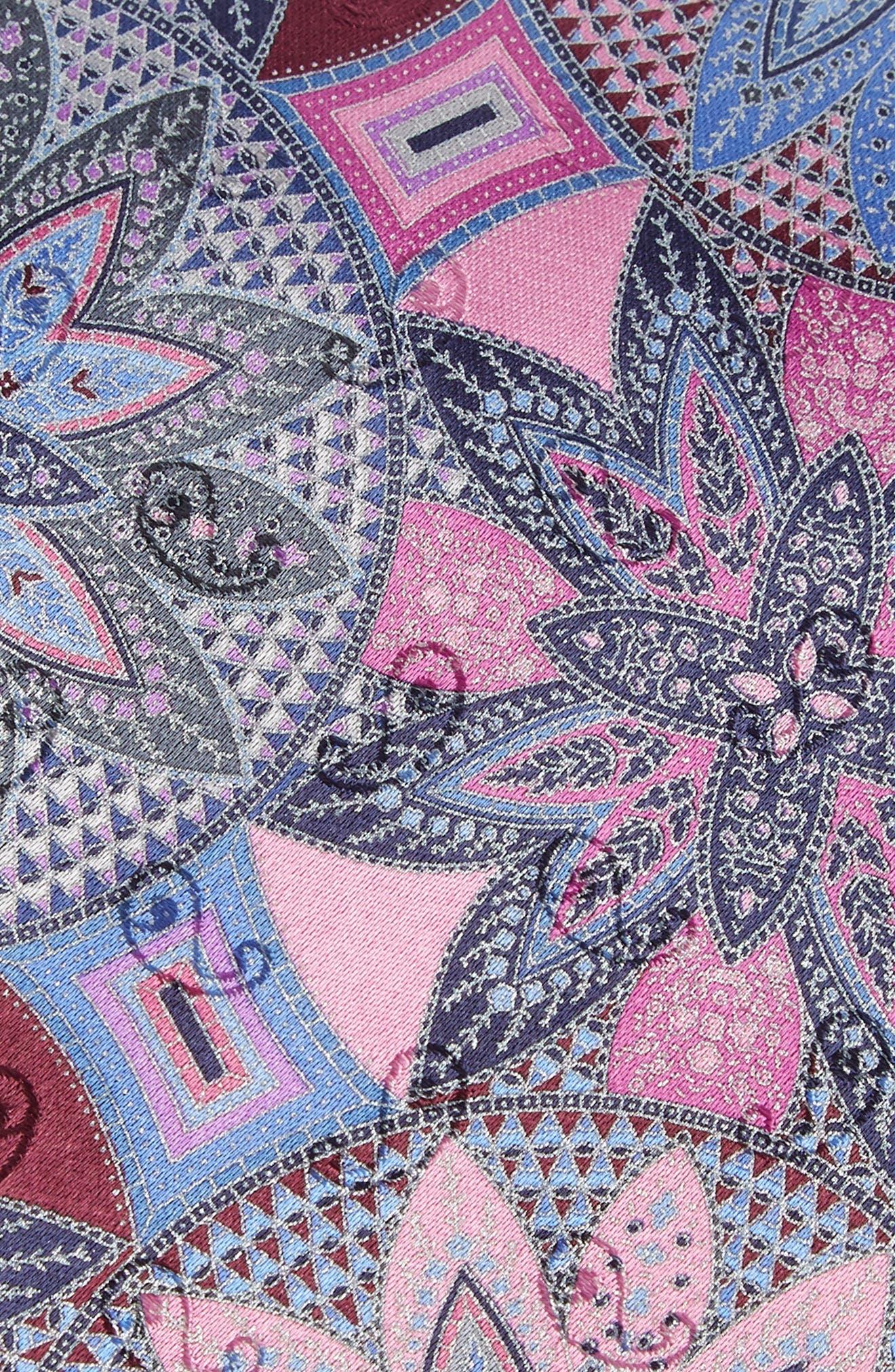 Quindici Medallion Silk Tie,                             Alternate thumbnail 5, color,
