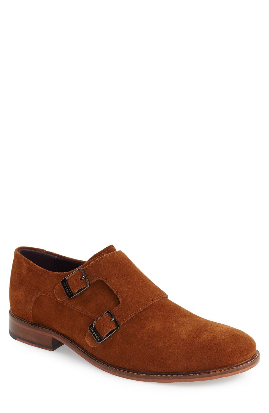 'Kartor 3' Double Monk Strap Shoe,                             Main thumbnail 2, color,