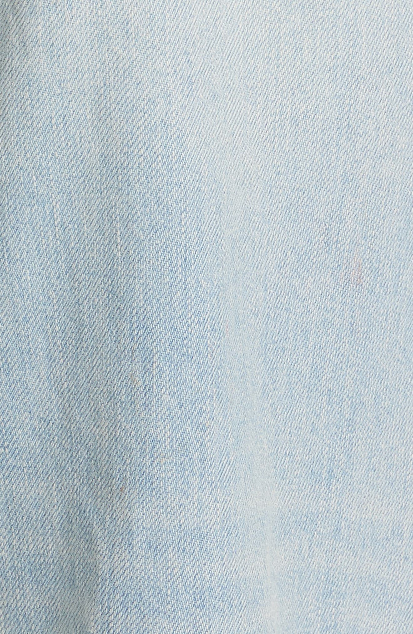 High Waist Crop Jeans,                             Alternate thumbnail 5, color,                             VINTAGE WASH 6