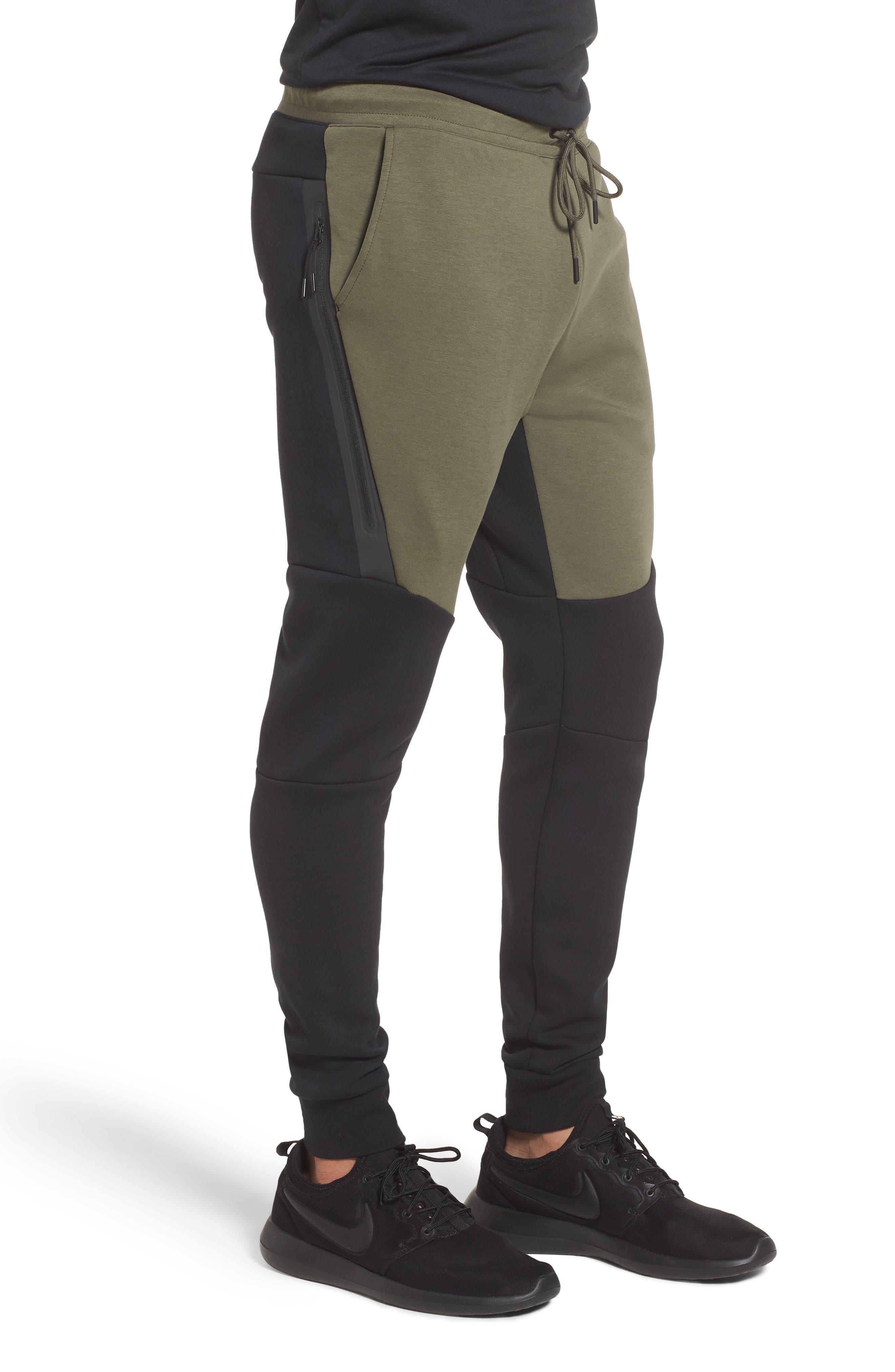 Tech Fleece Jogger Pants,                             Alternate thumbnail 3, color,                             BLACK/ TWILIGHT MARSH/ BLACK