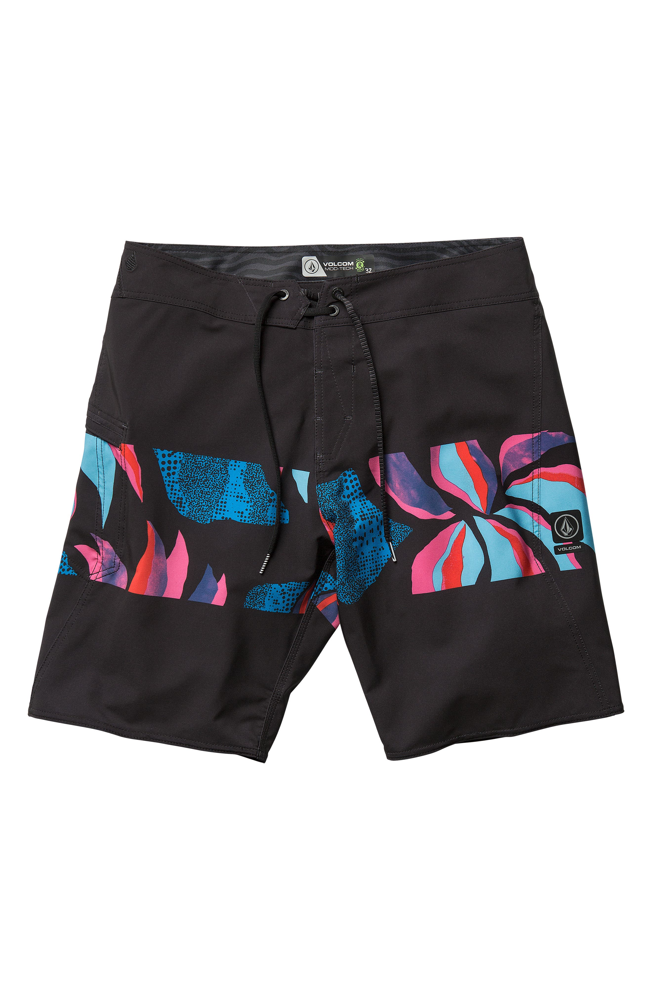 Macaw Mod Board Shorts,                             Alternate thumbnail 4, color,                             NEW BLACK