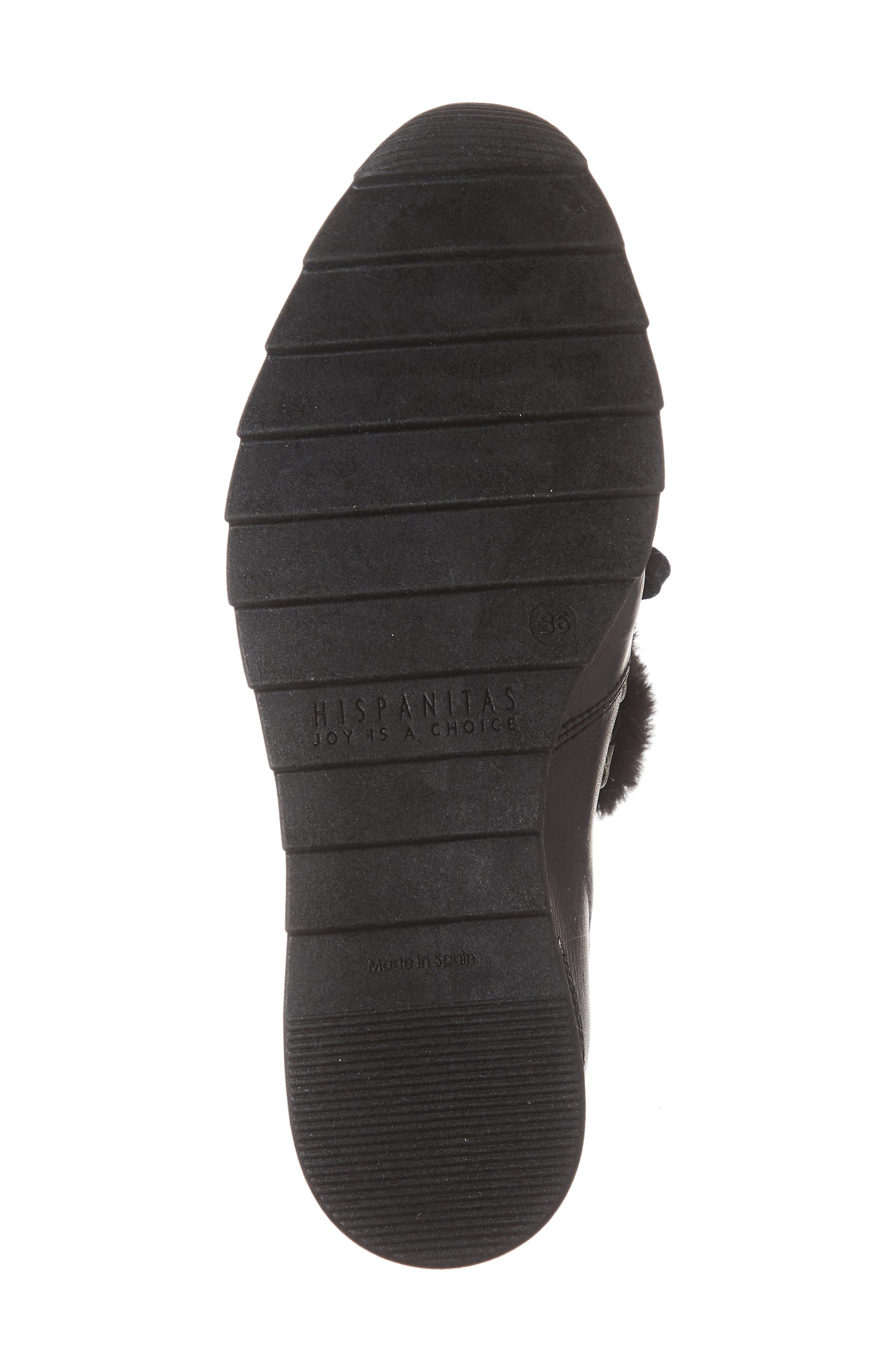 Sadara Wedge Sneaker,                             Alternate thumbnail 6, color,                             SOHO BLACK FAUX FUR