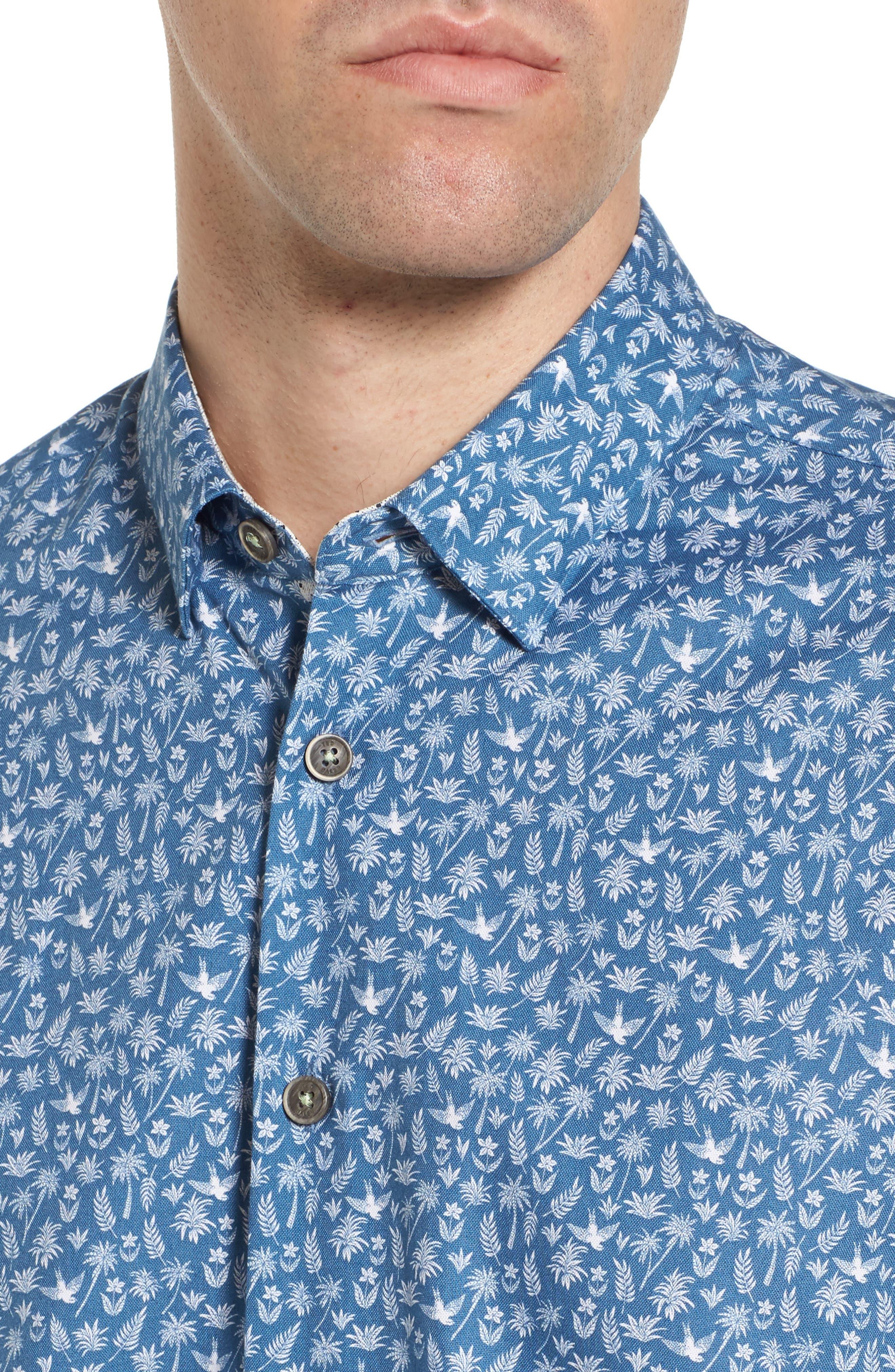 Pazta Tropic Print Shirt,                             Alternate thumbnail 4, color,                             400