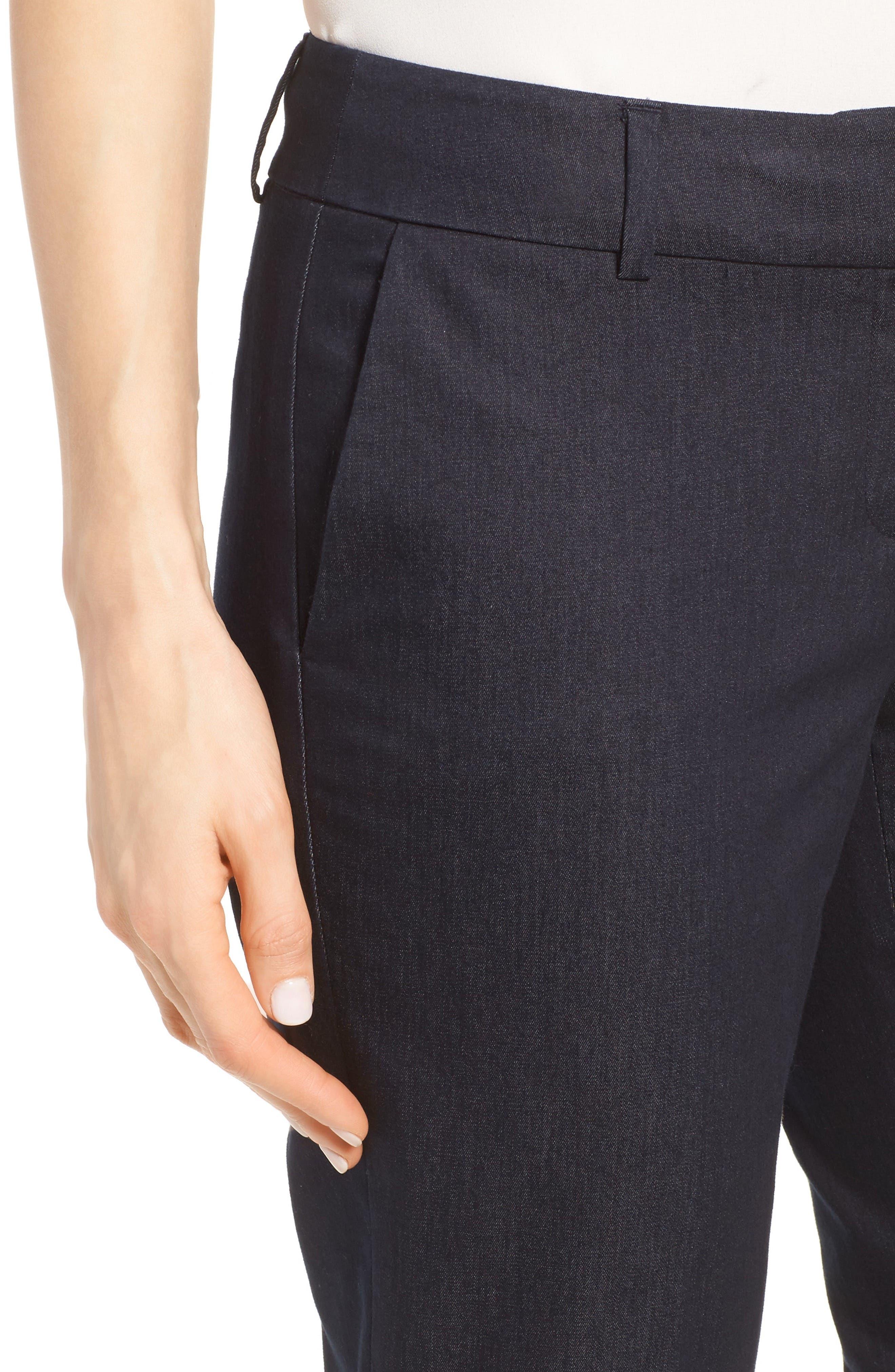 Crop Stretch Cotton Pants,                             Alternate thumbnail 80, color,