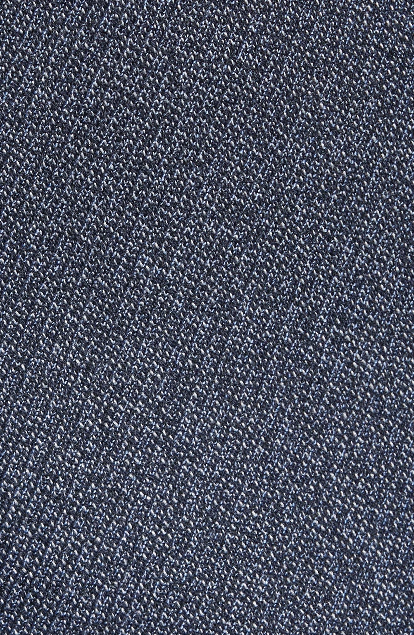 Slim Fit Bufwai Twill Vest,                             Alternate thumbnail 6, color,                             BLUE