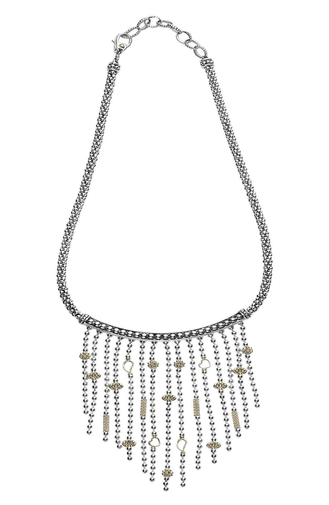'Caviar Icon' Rope Bib Necklace,                             Alternate thumbnail 3, color,                             041