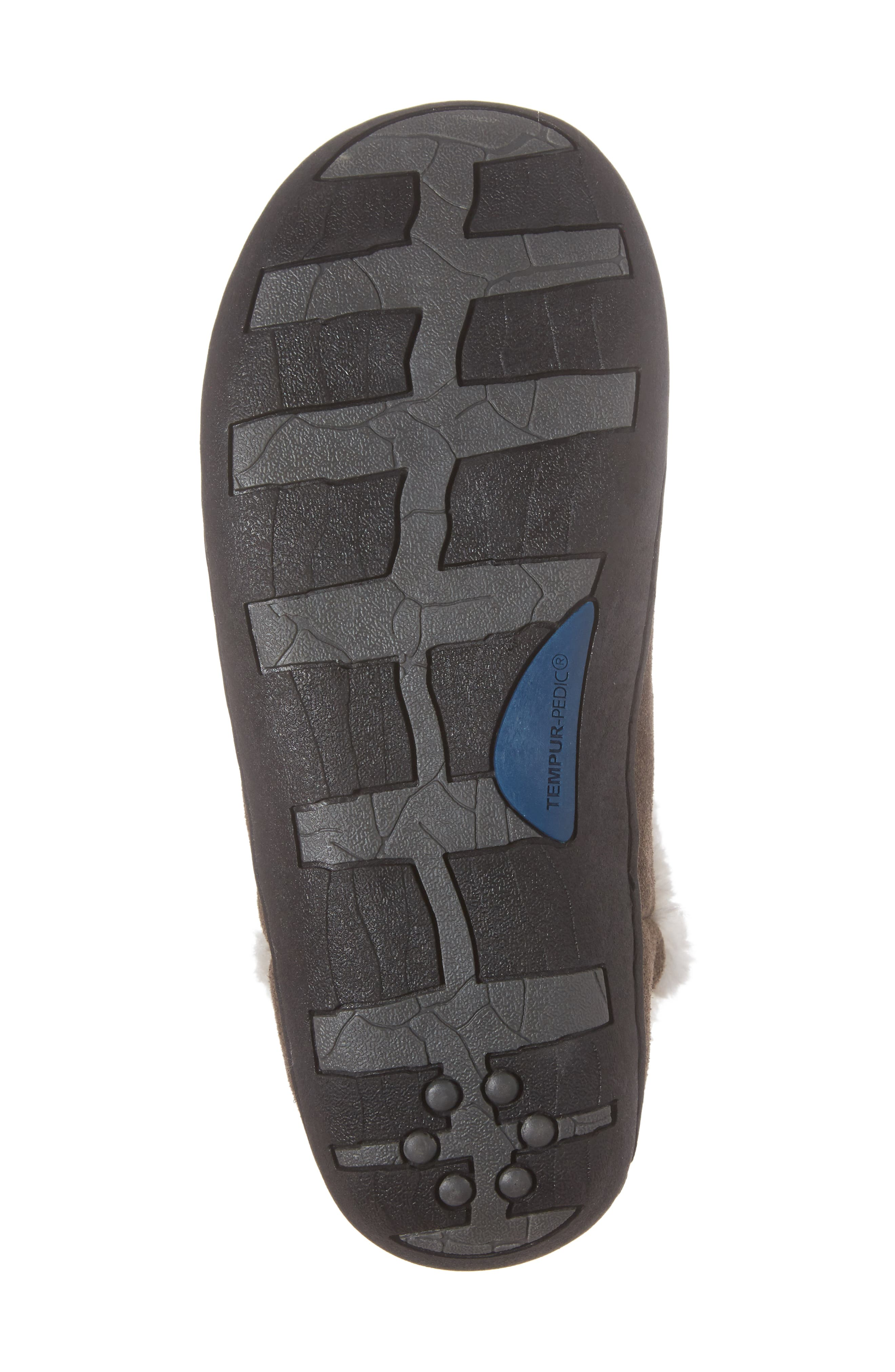 Vallery Bootie Slipper,                             Alternate thumbnail 6, color,                             GRAY SUEDE