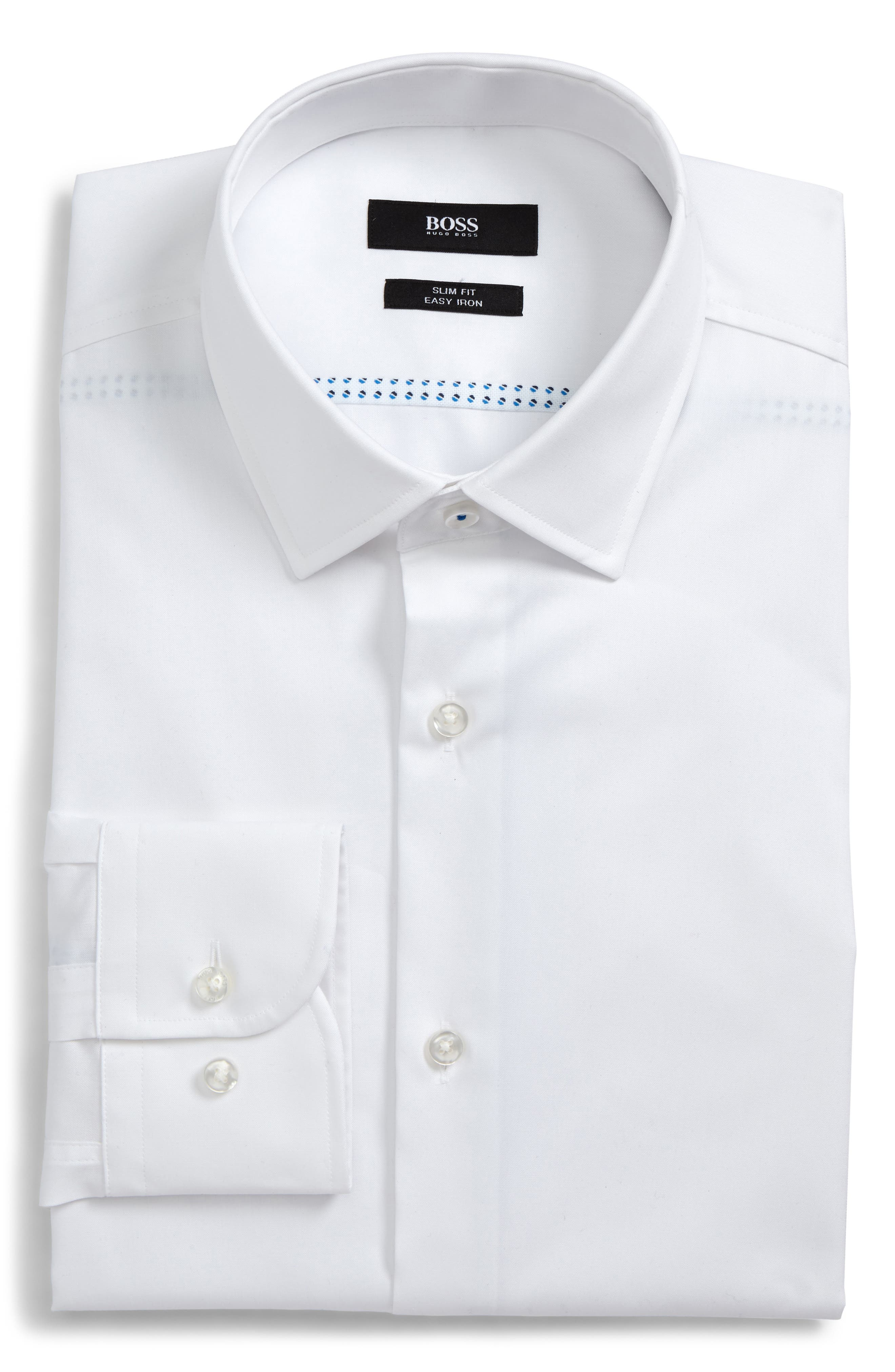 Jerris Slim Fit Dress Shirt,                         Main,                         color, WHITE