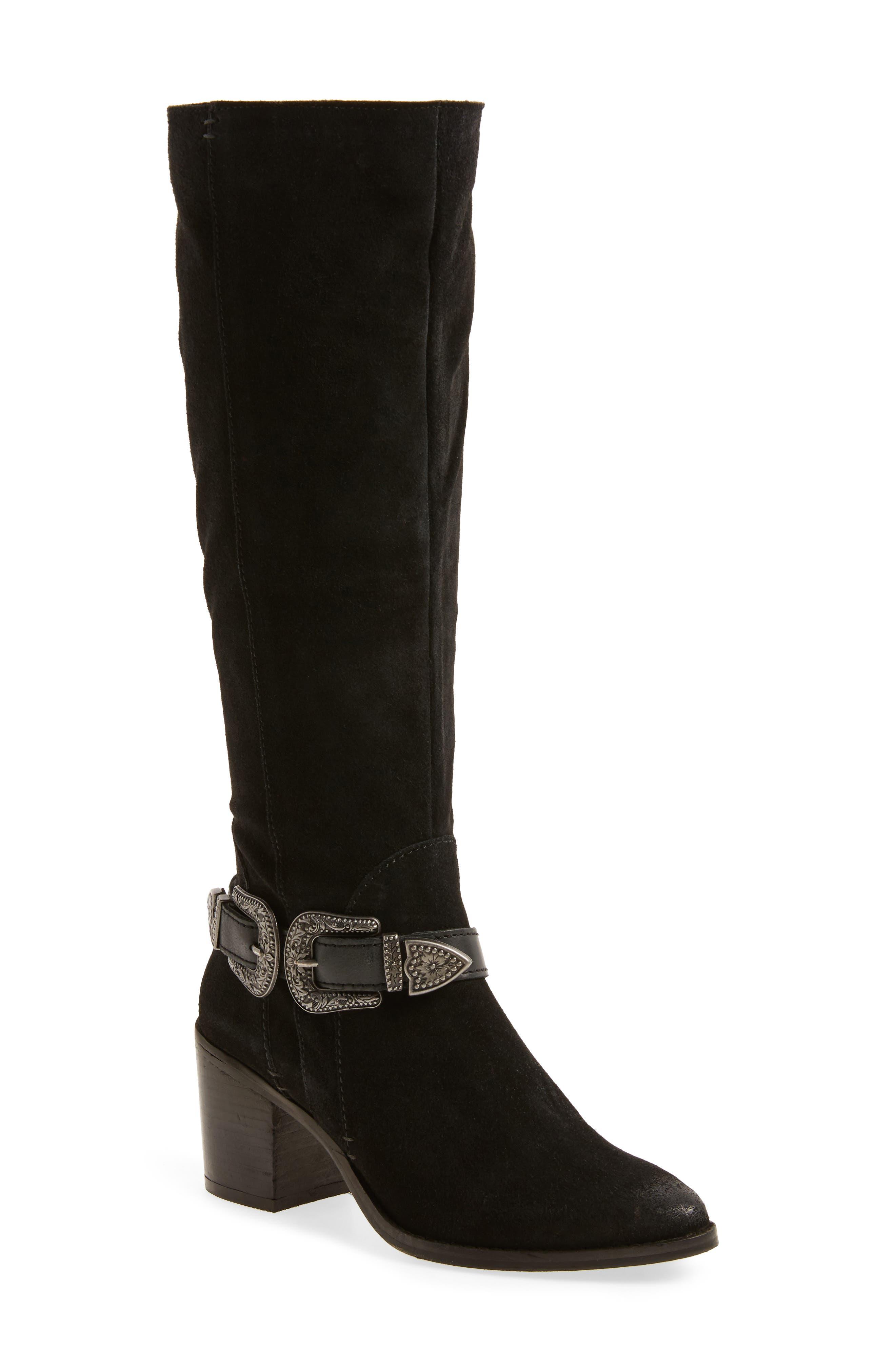 Natasha Tall Boot,                         Main,                         color, 001