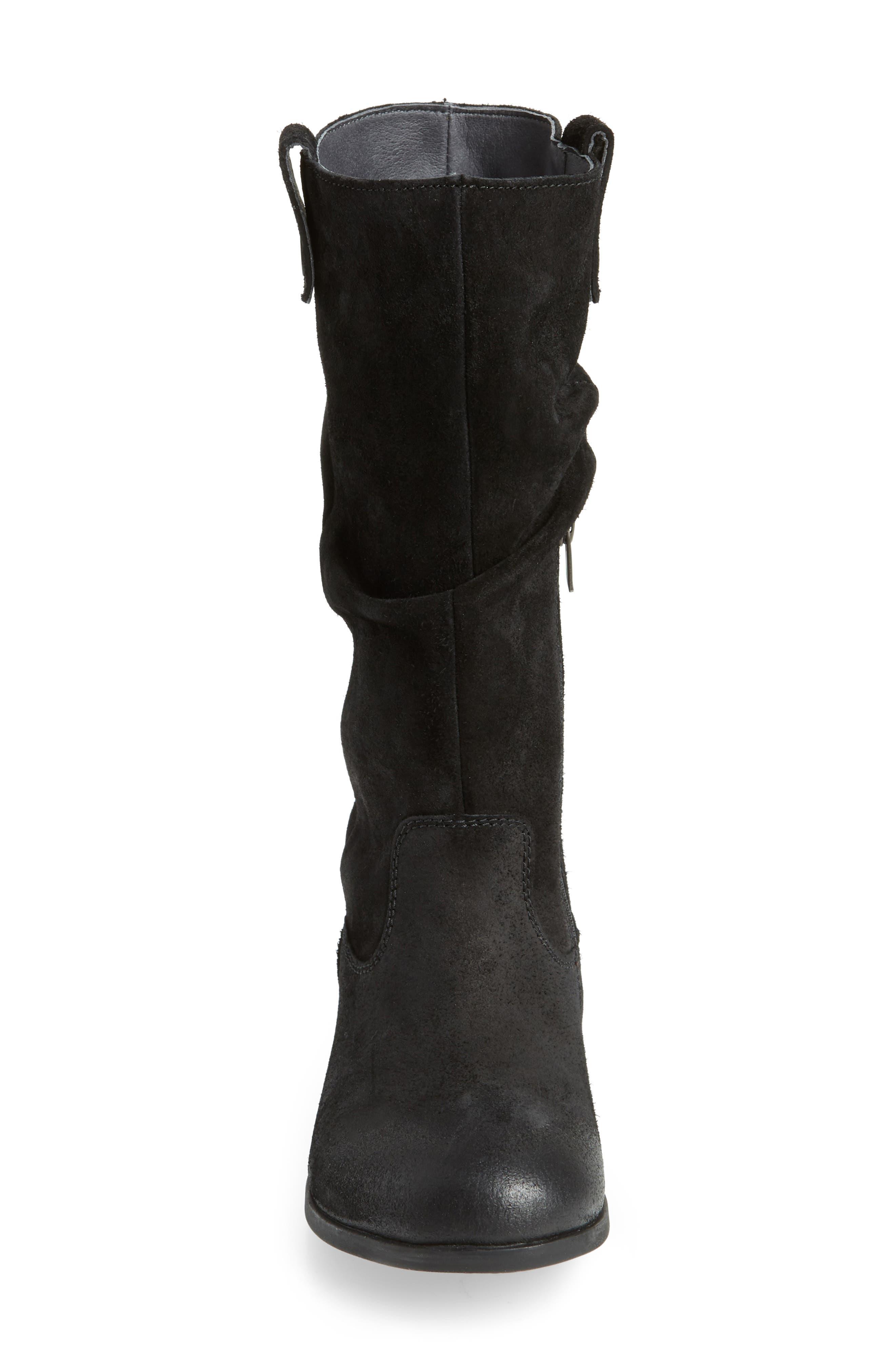 Sarnia High Boot,                             Alternate thumbnail 4, color,                             BLACK LEATHER
