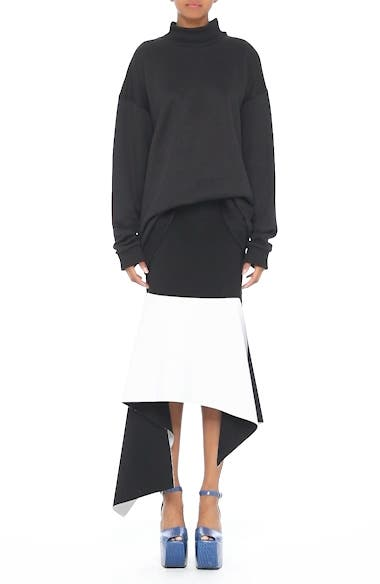 Alternate Video 7  - Marques'Almeida Asymmetrical Bicolor Crepe Skirt