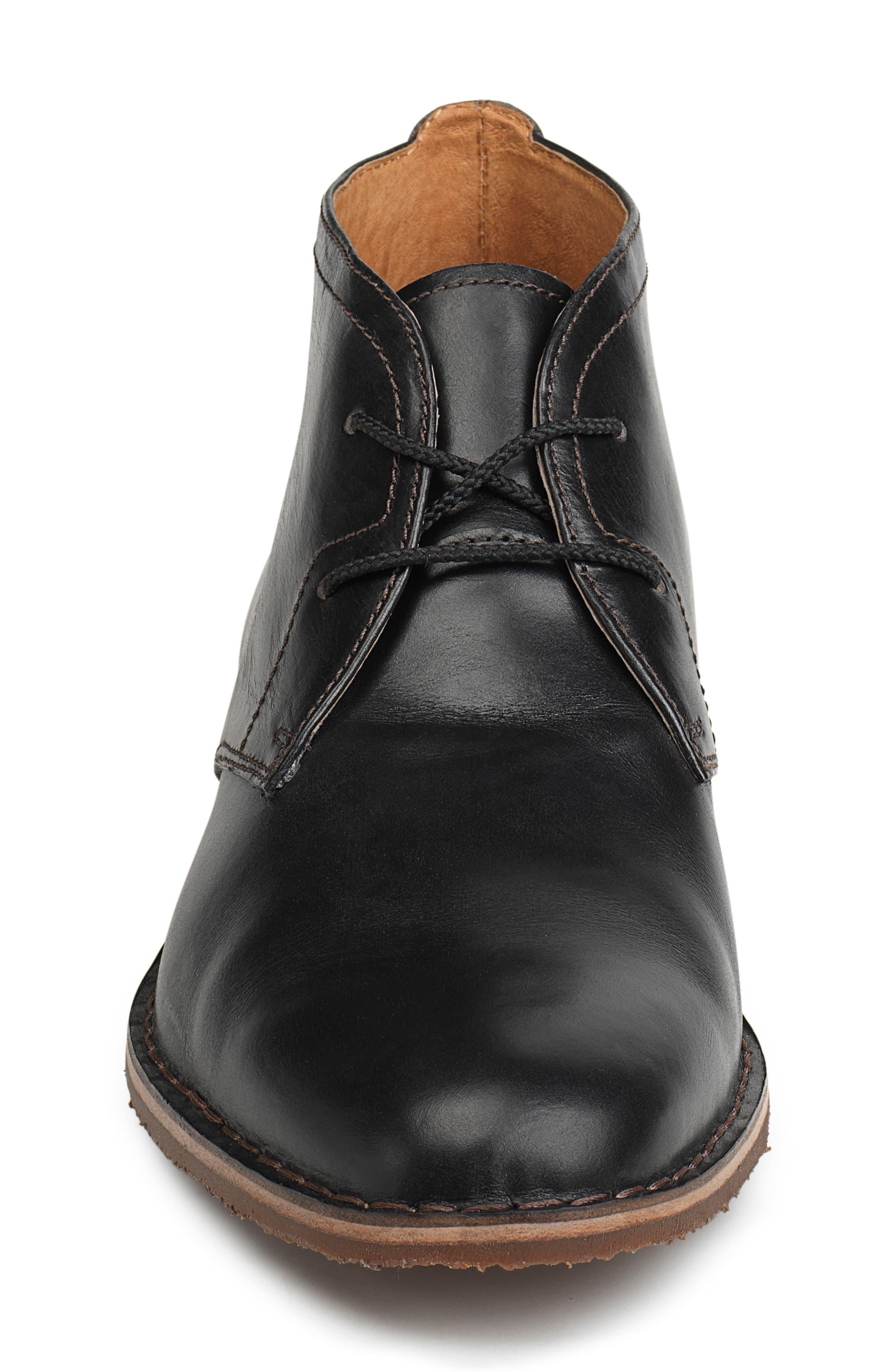 'Brady' Chukka Boot,                             Alternate thumbnail 4, color,                             BLACK LEATHER
