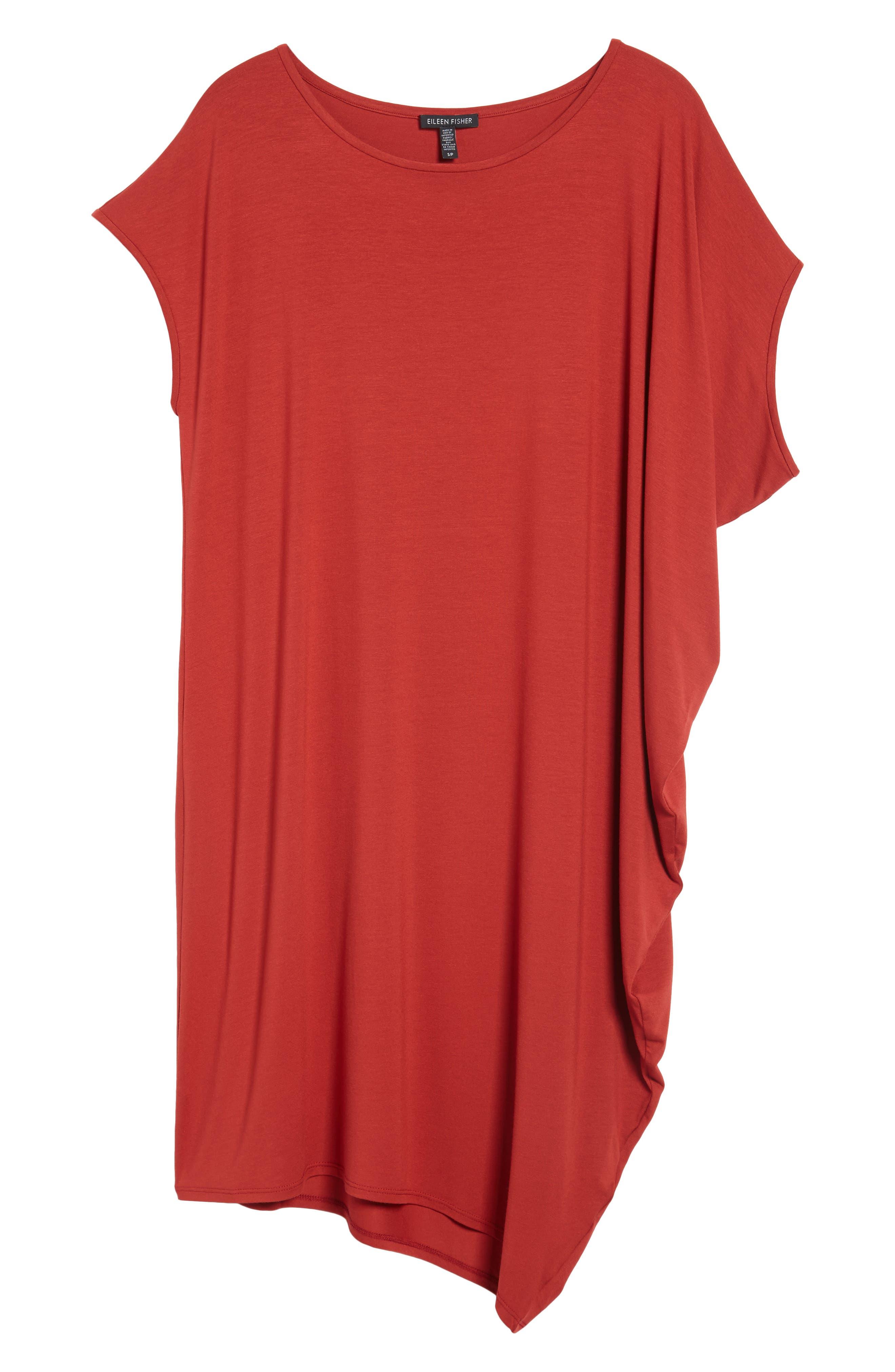 Asymmetrical Jersey Shift Dress,                             Alternate thumbnail 24, color,