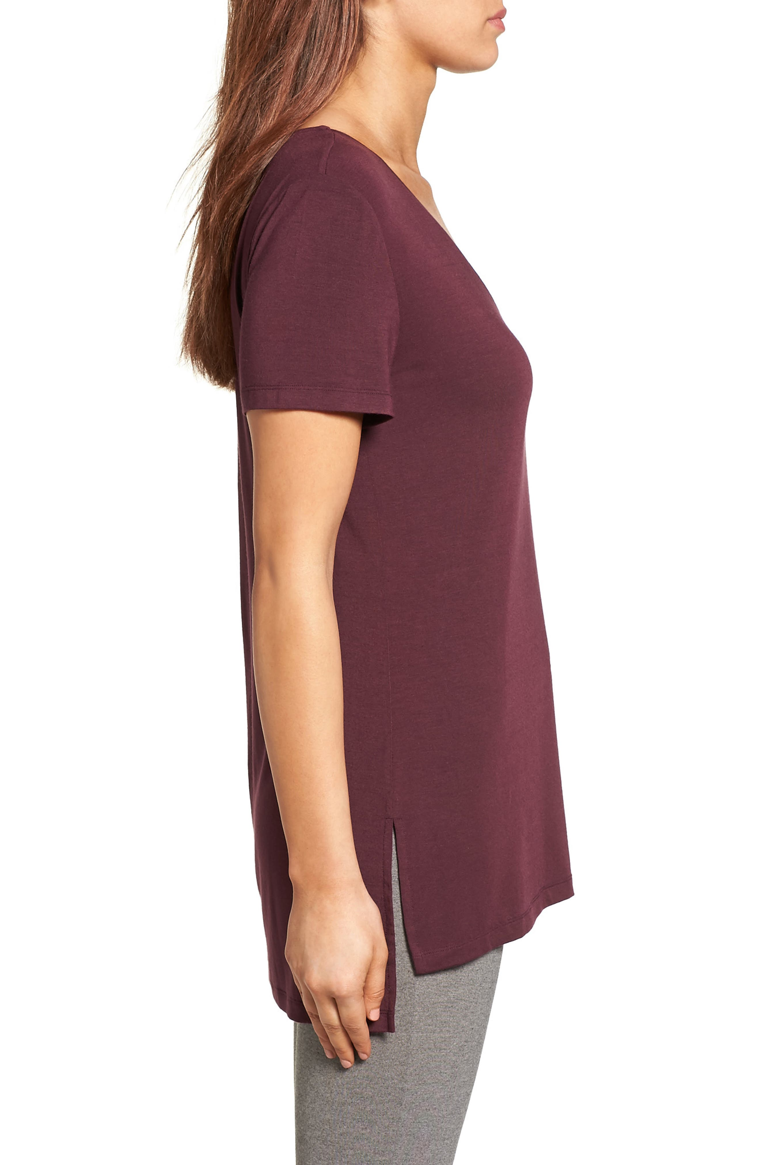 V-Neck Tunic Tee,                             Alternate thumbnail 36, color,