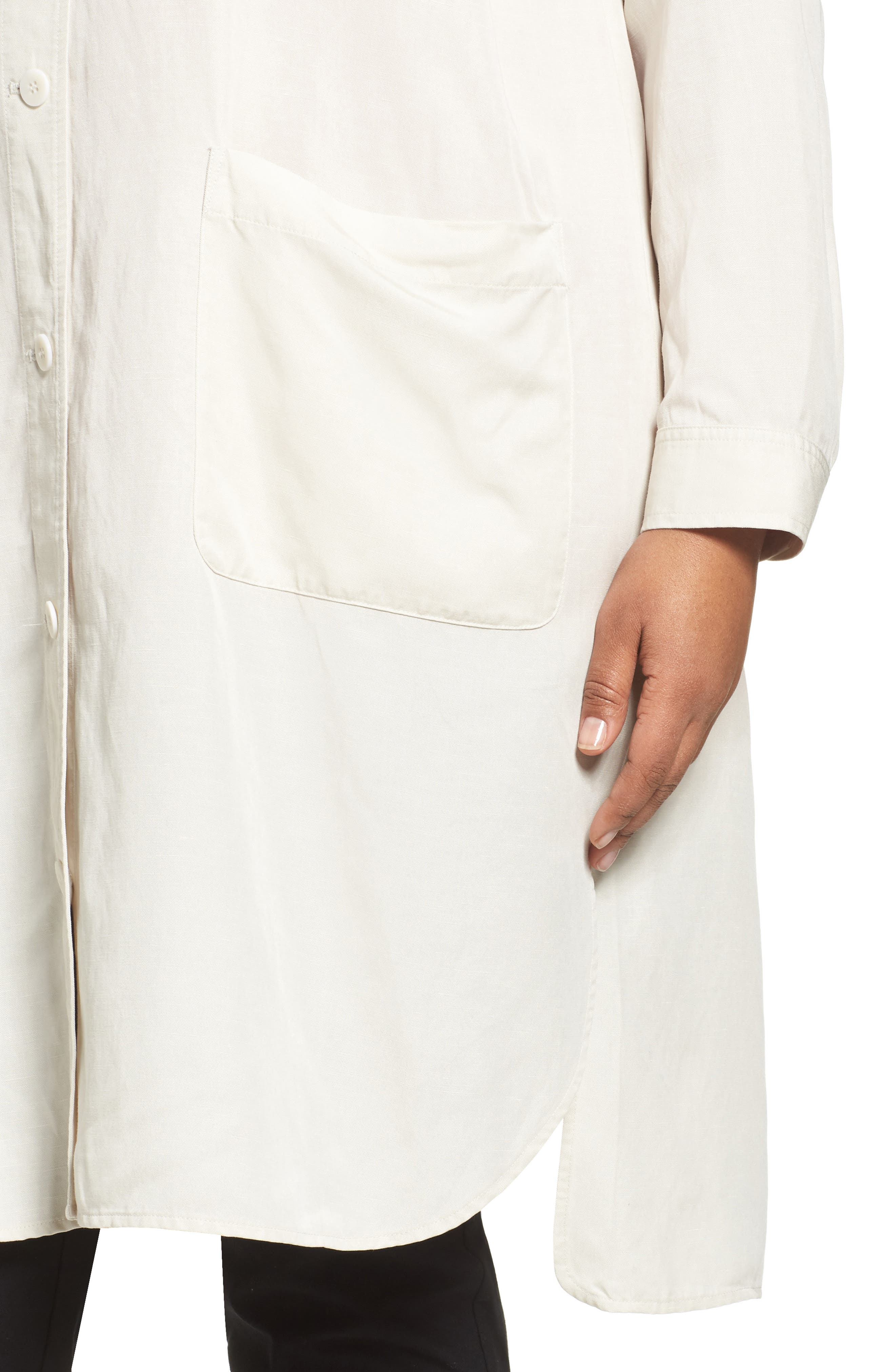 Long Tencel<sup>®</sup> Lyocell & Linen Jacket,                             Alternate thumbnail 8, color,