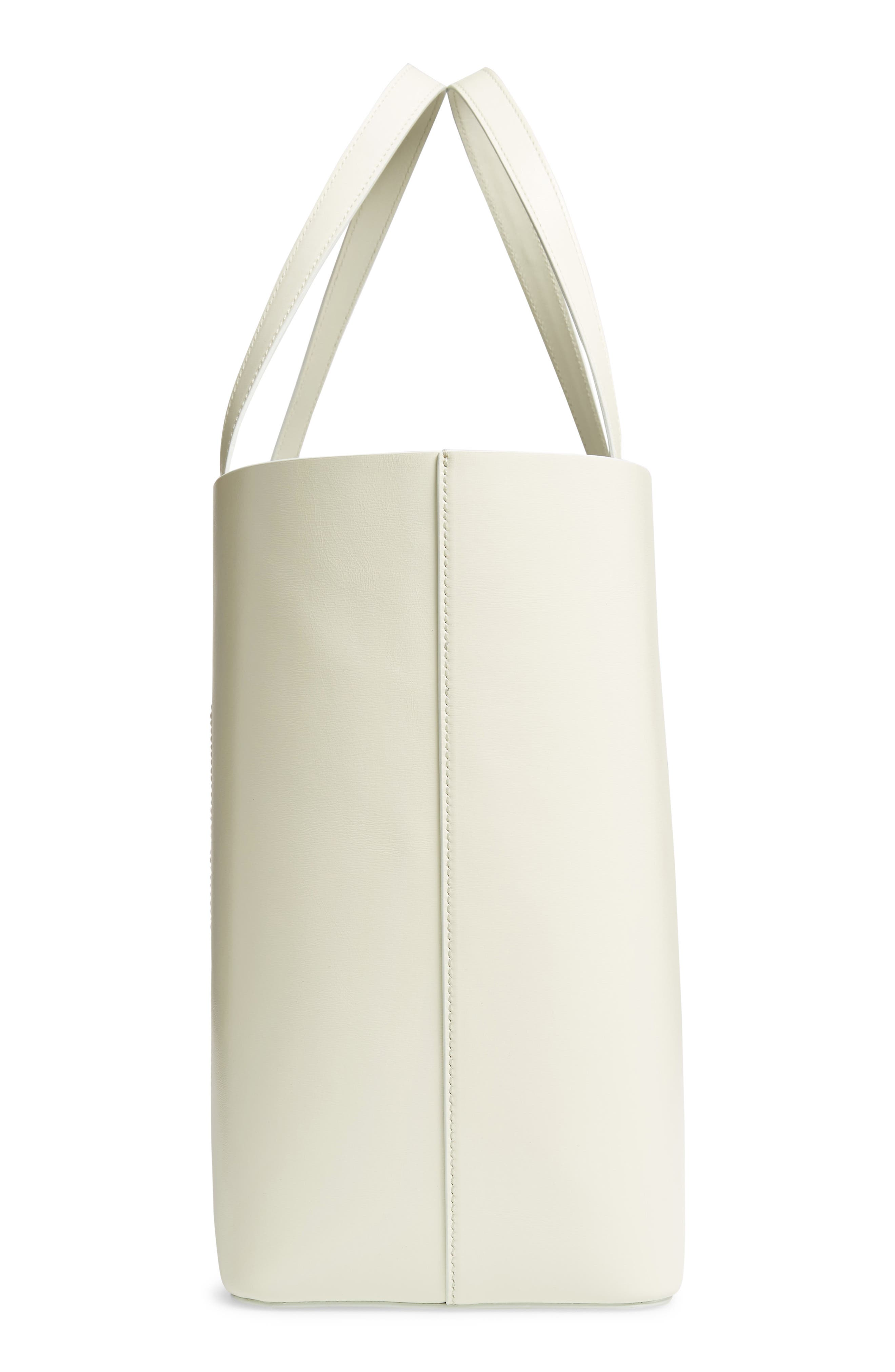 CALVIN KLEIN 205W39NYC,                             Road Runner East/West Leather Tote,                             Alternate thumbnail 5, color,                             053