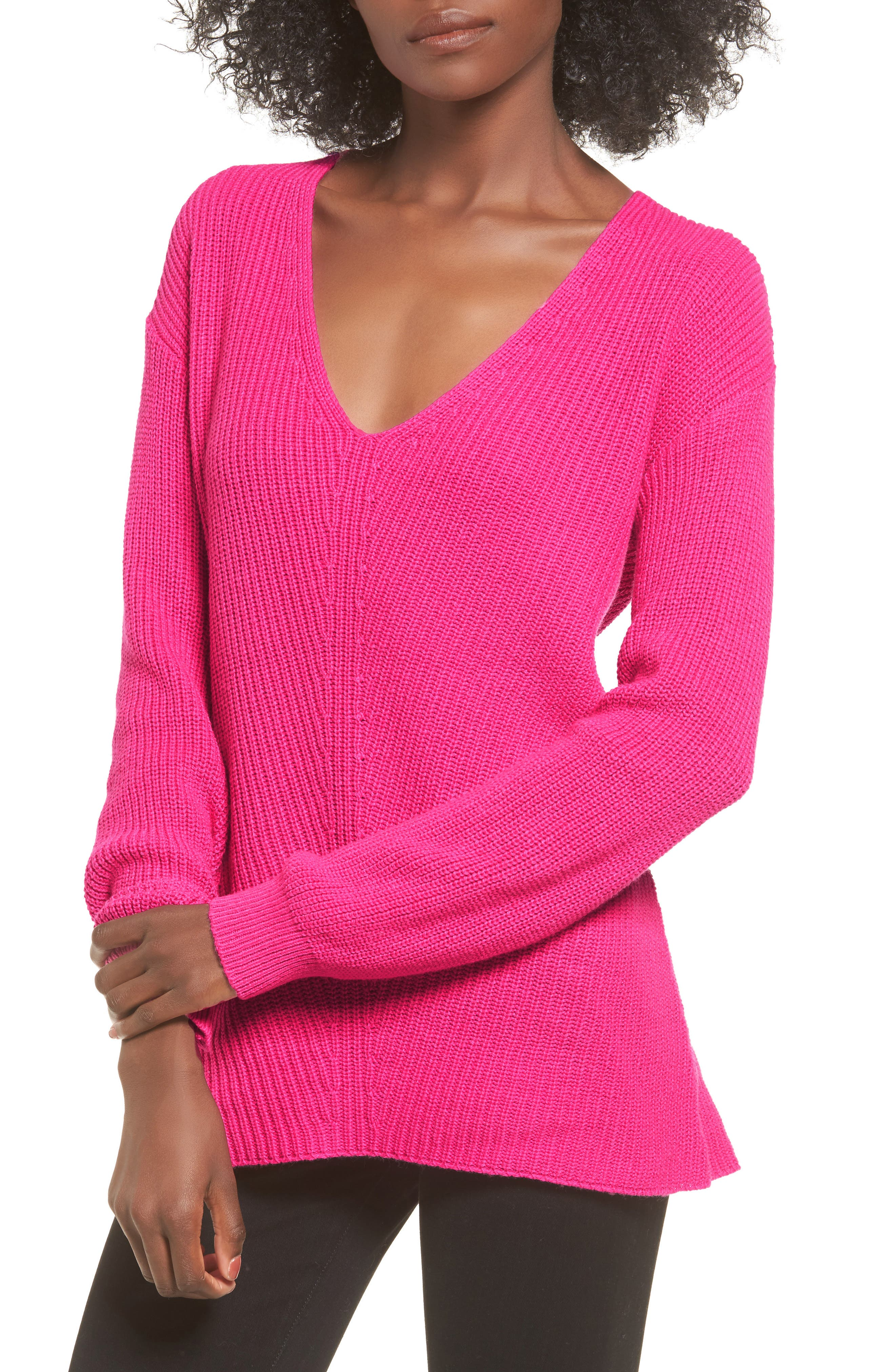 V-Neck Sweater,                             Main thumbnail 6, color,