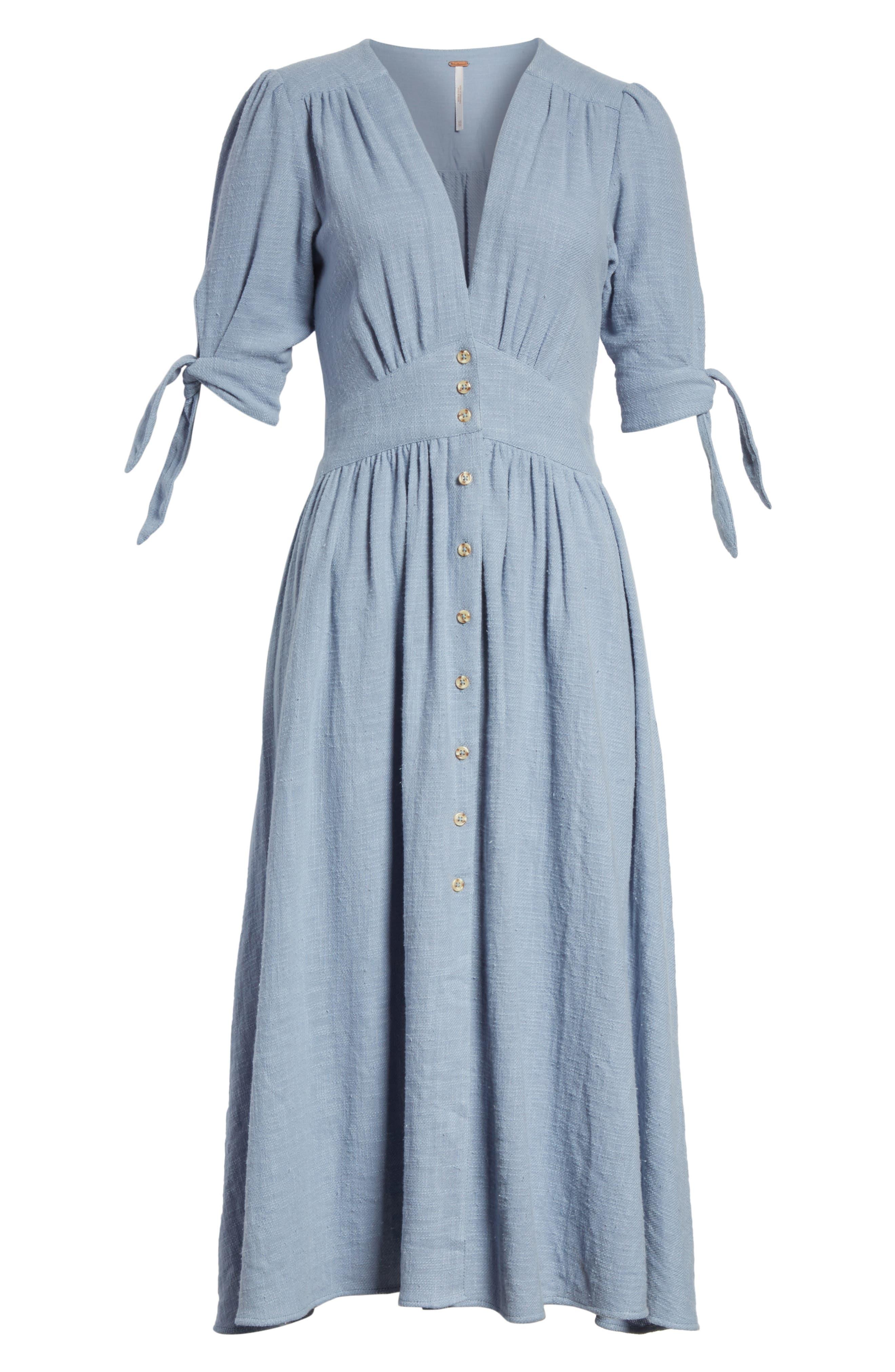 Love of My Life Midi Dress,                             Alternate thumbnail 8, color,                             BLUE