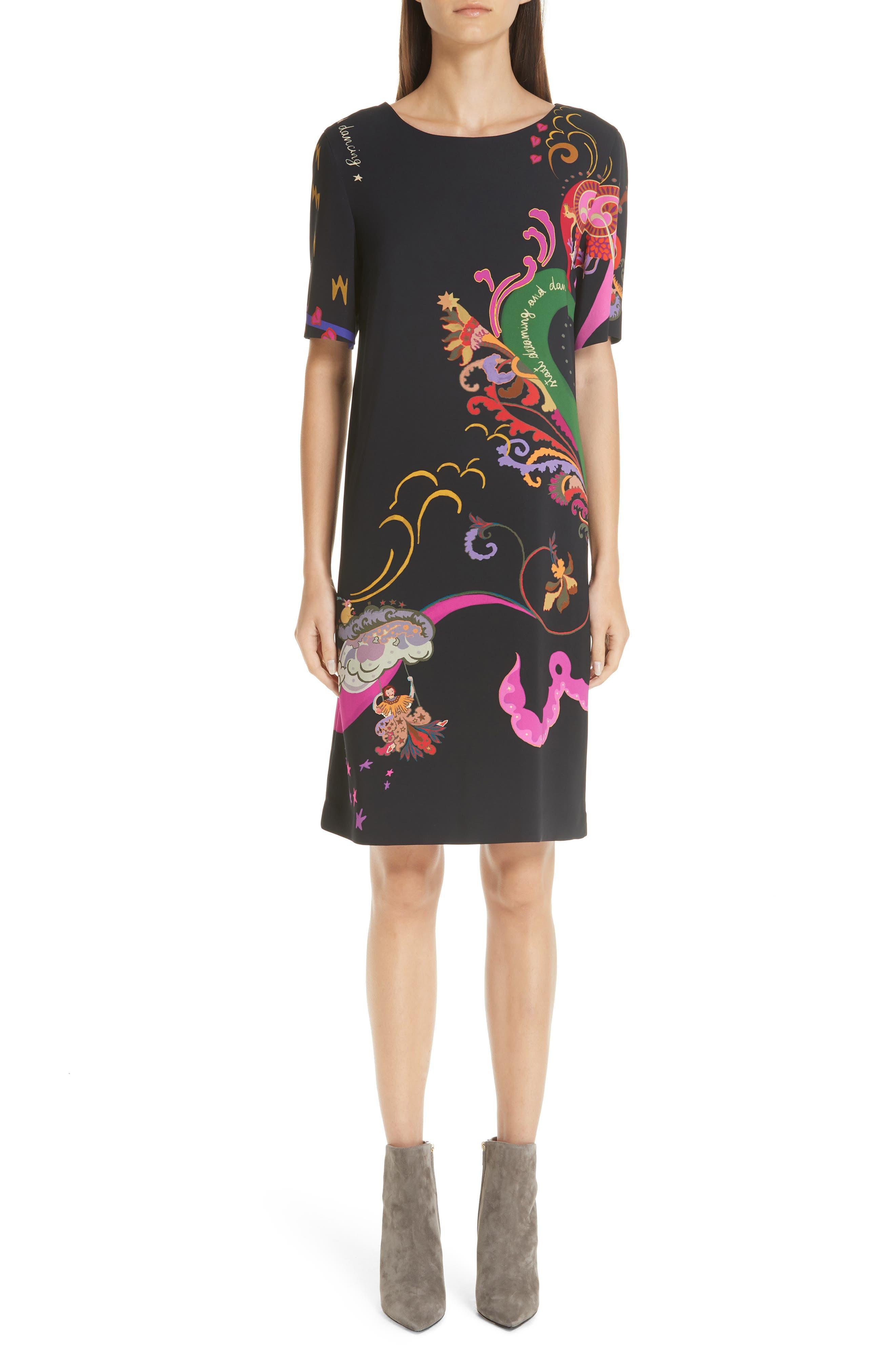 Etro Dream & Dance Print Sheath Dress