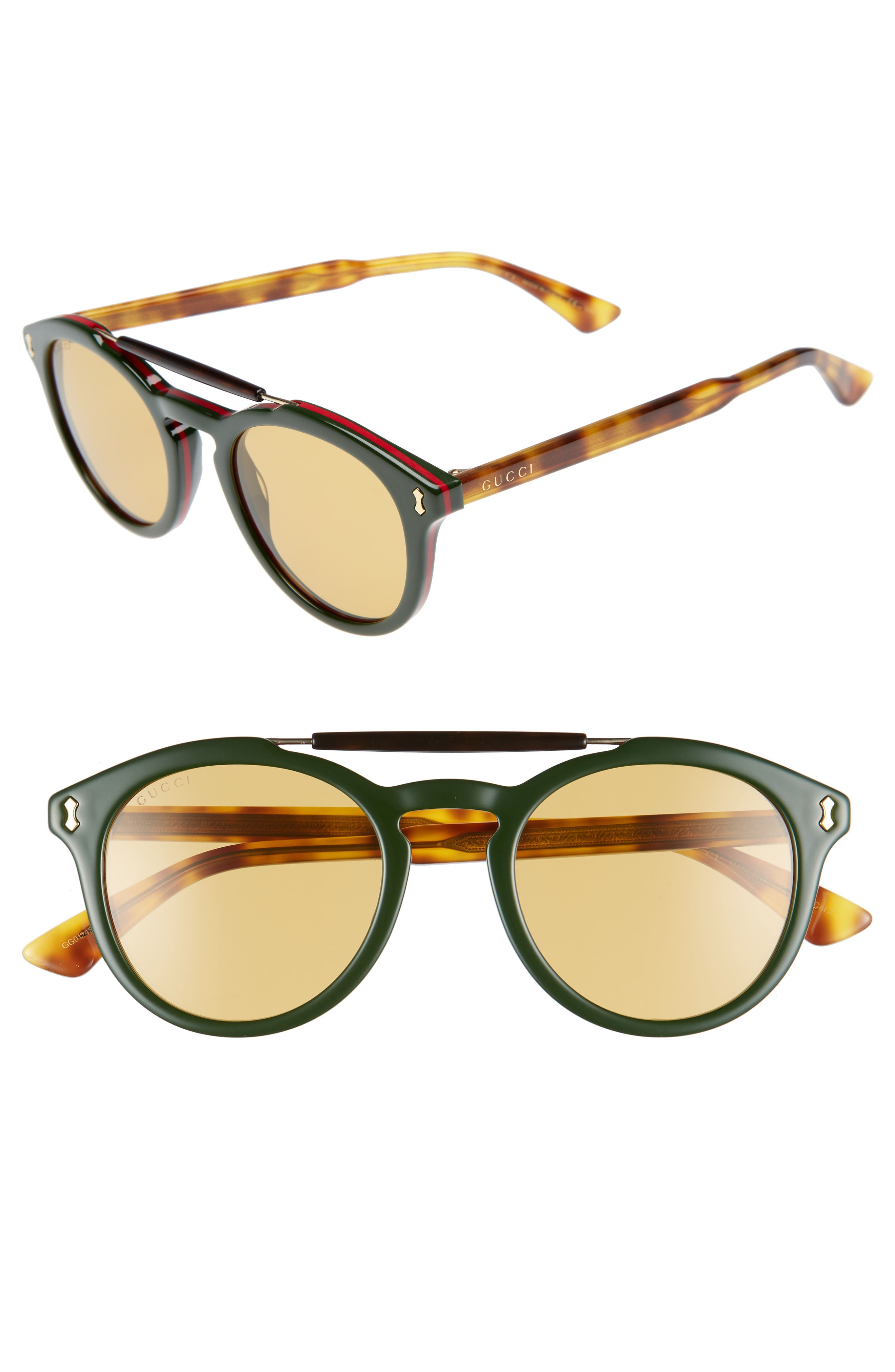 Vintage Pilot 50mm Sunglasses,                             Main thumbnail 3, color,