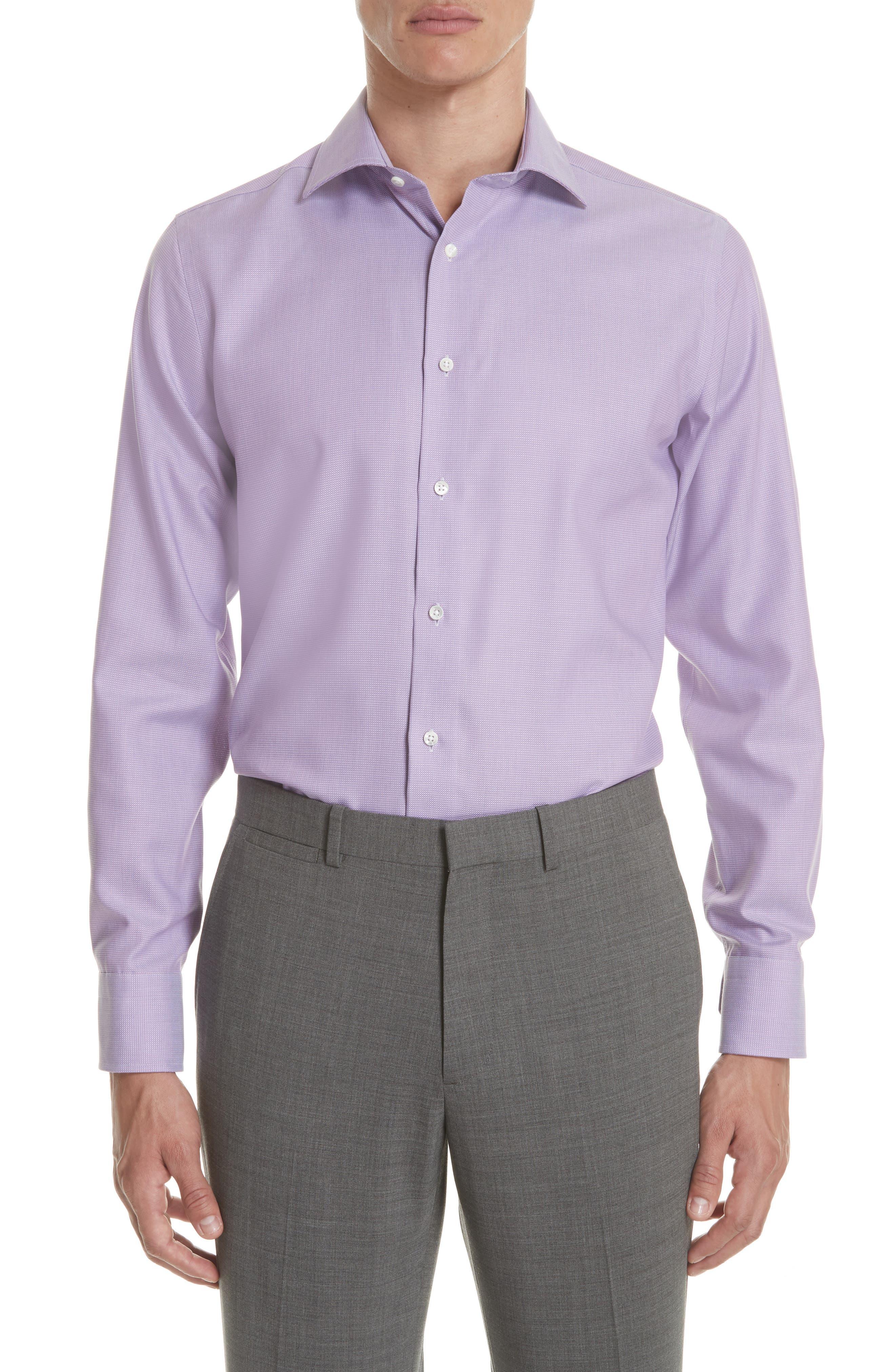 Regular Fit Solid Dress Shirt,                             Main thumbnail 1, color,                             520